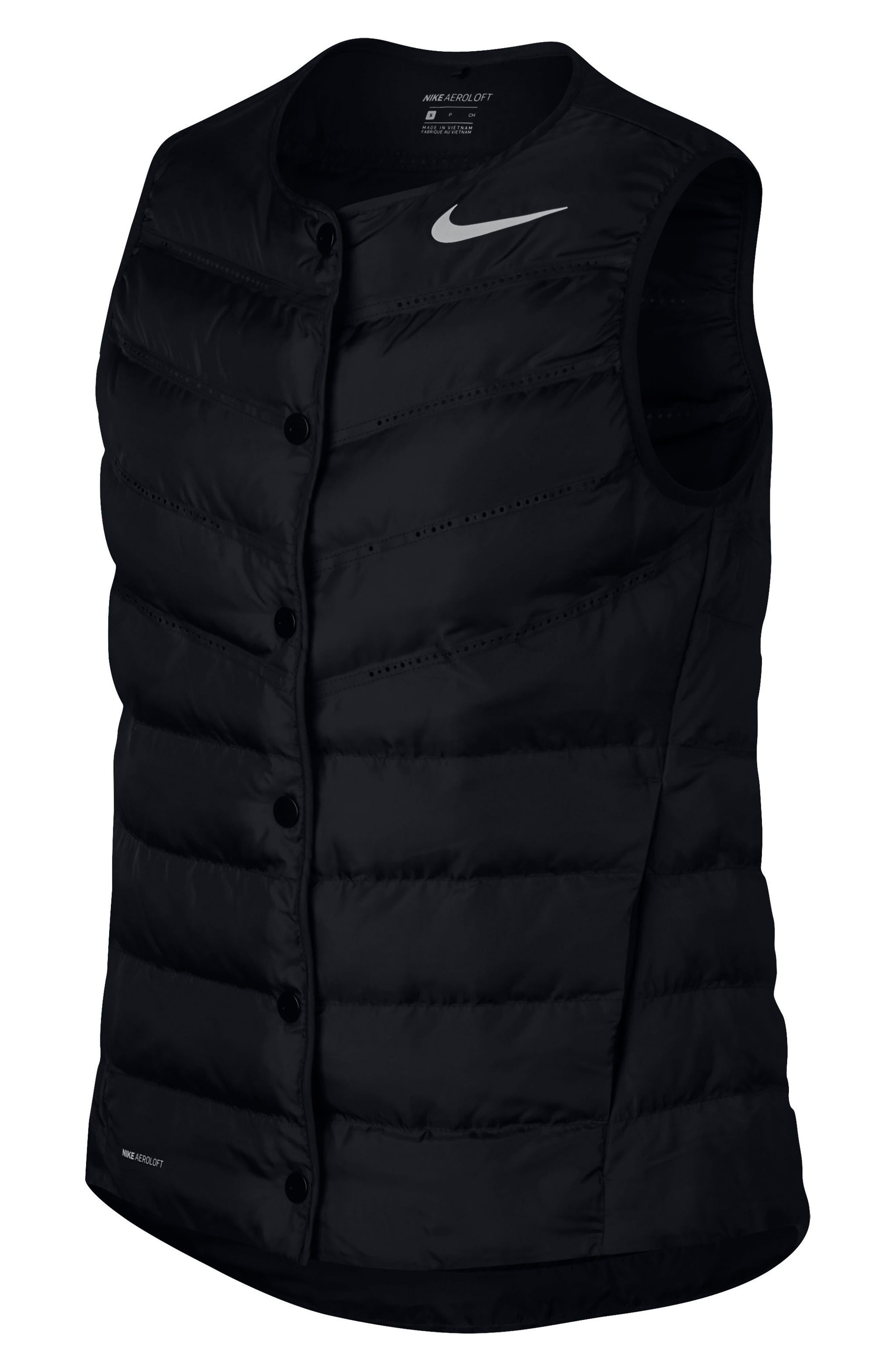 AeroLoft Water Repellent Running Vest,                             Alternate thumbnail 6, color,                             010