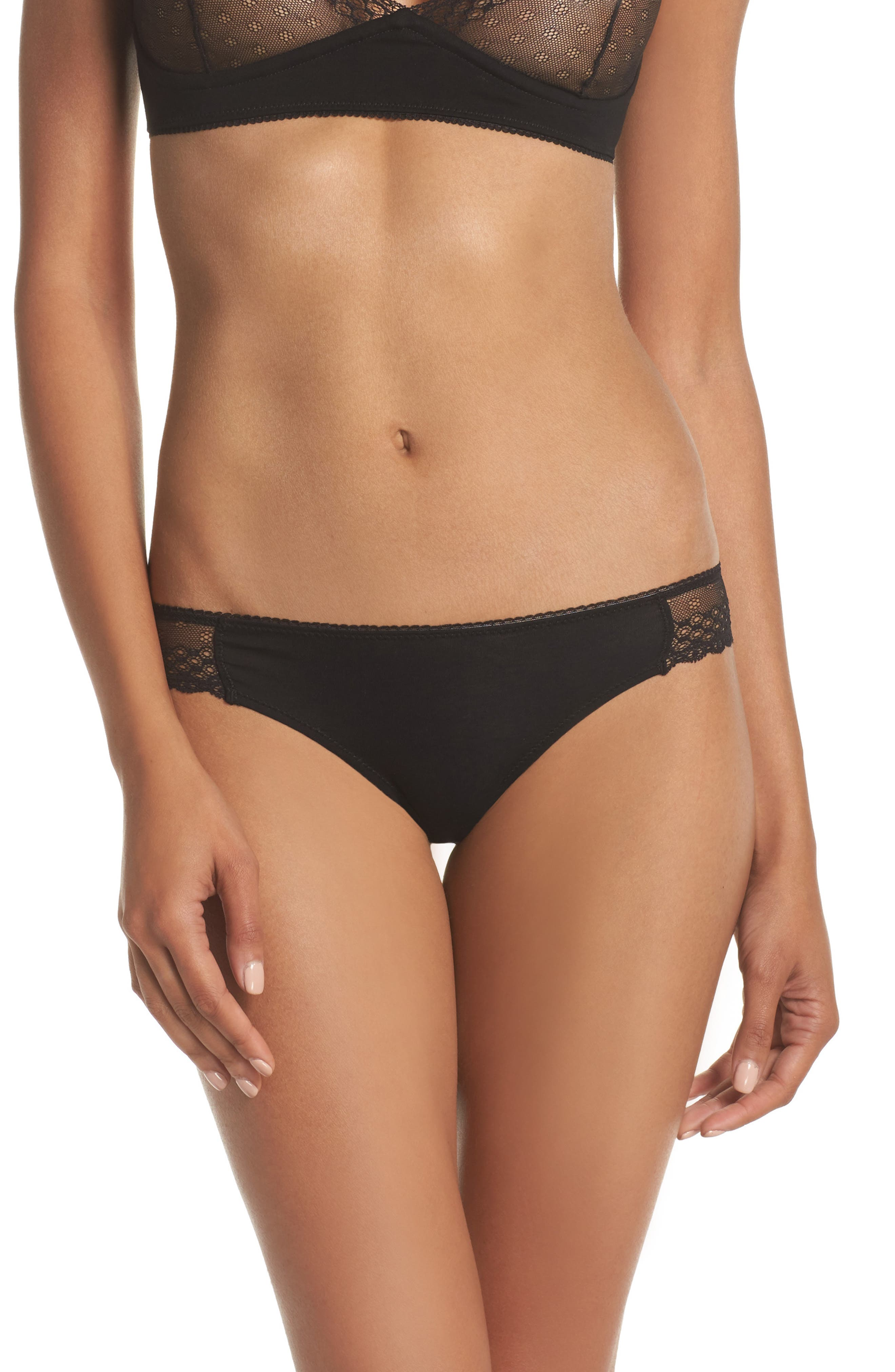 Organic Pima Cotton Blend Lace Bikini,                         Main,                         color,