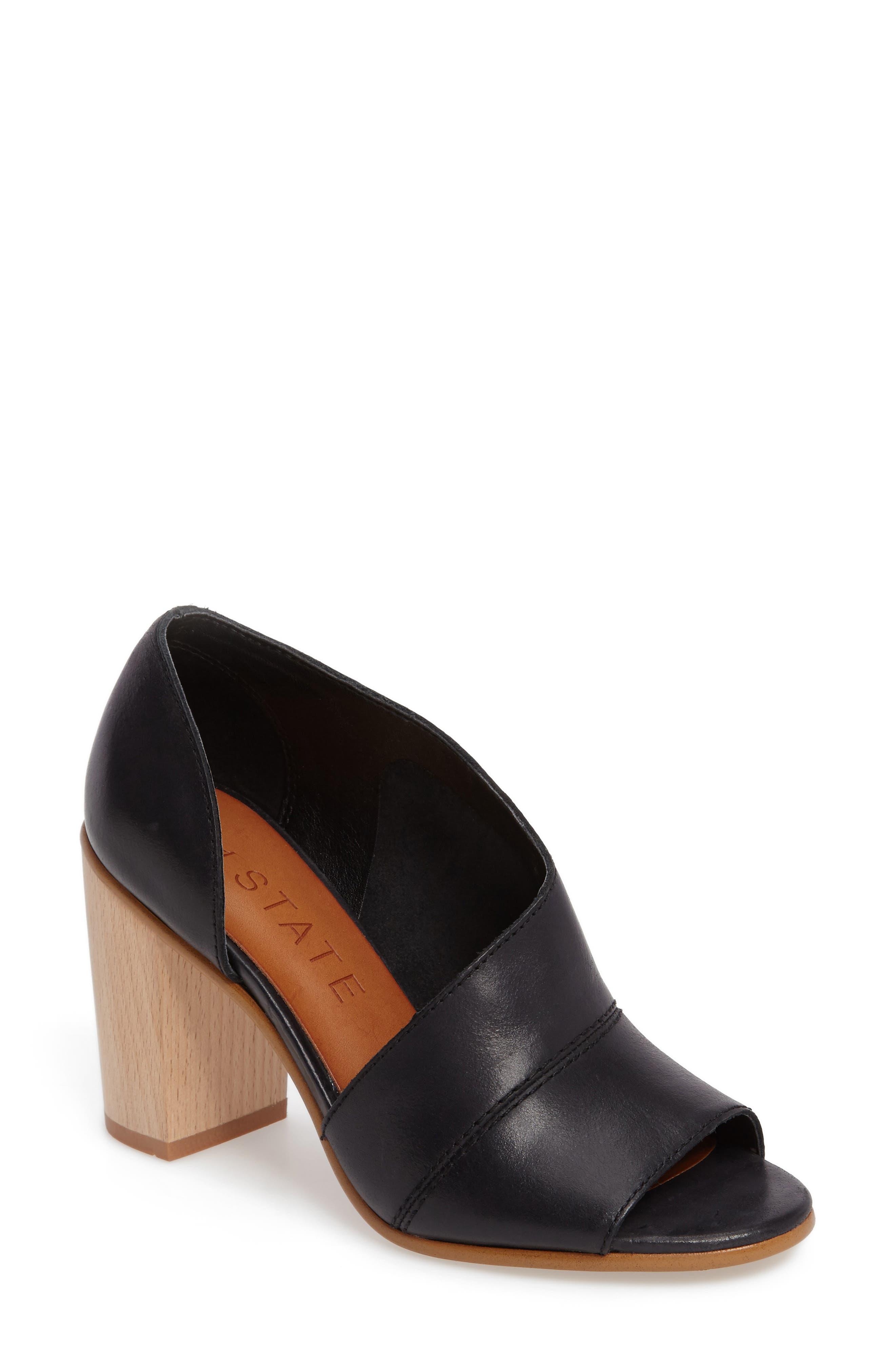 Amble Asymmetrical Sandal,                             Main thumbnail 1, color,                             001