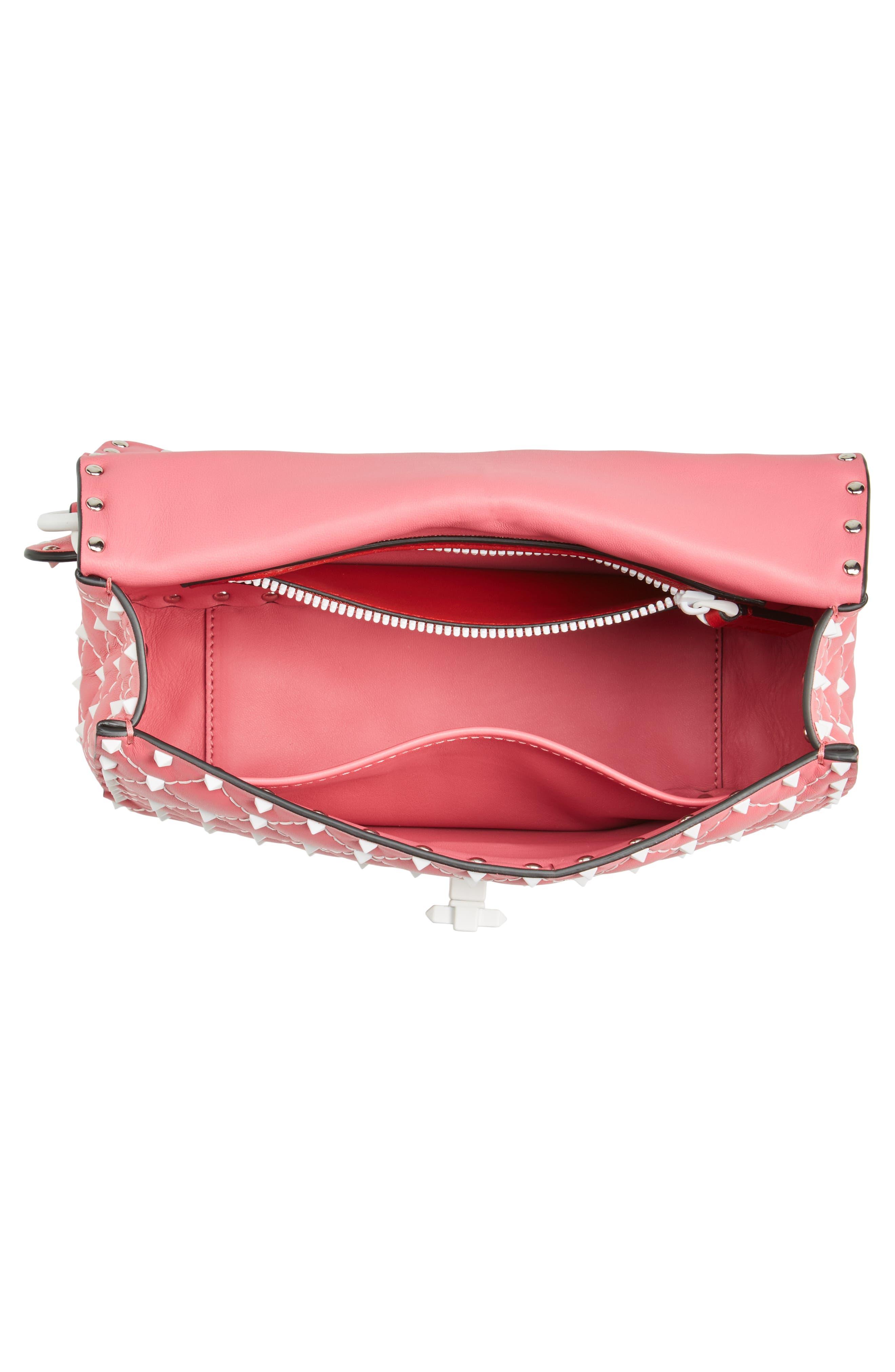 Medium Rockstud Matelassé Leather Shoulder Bag,                             Alternate thumbnail 12, color,