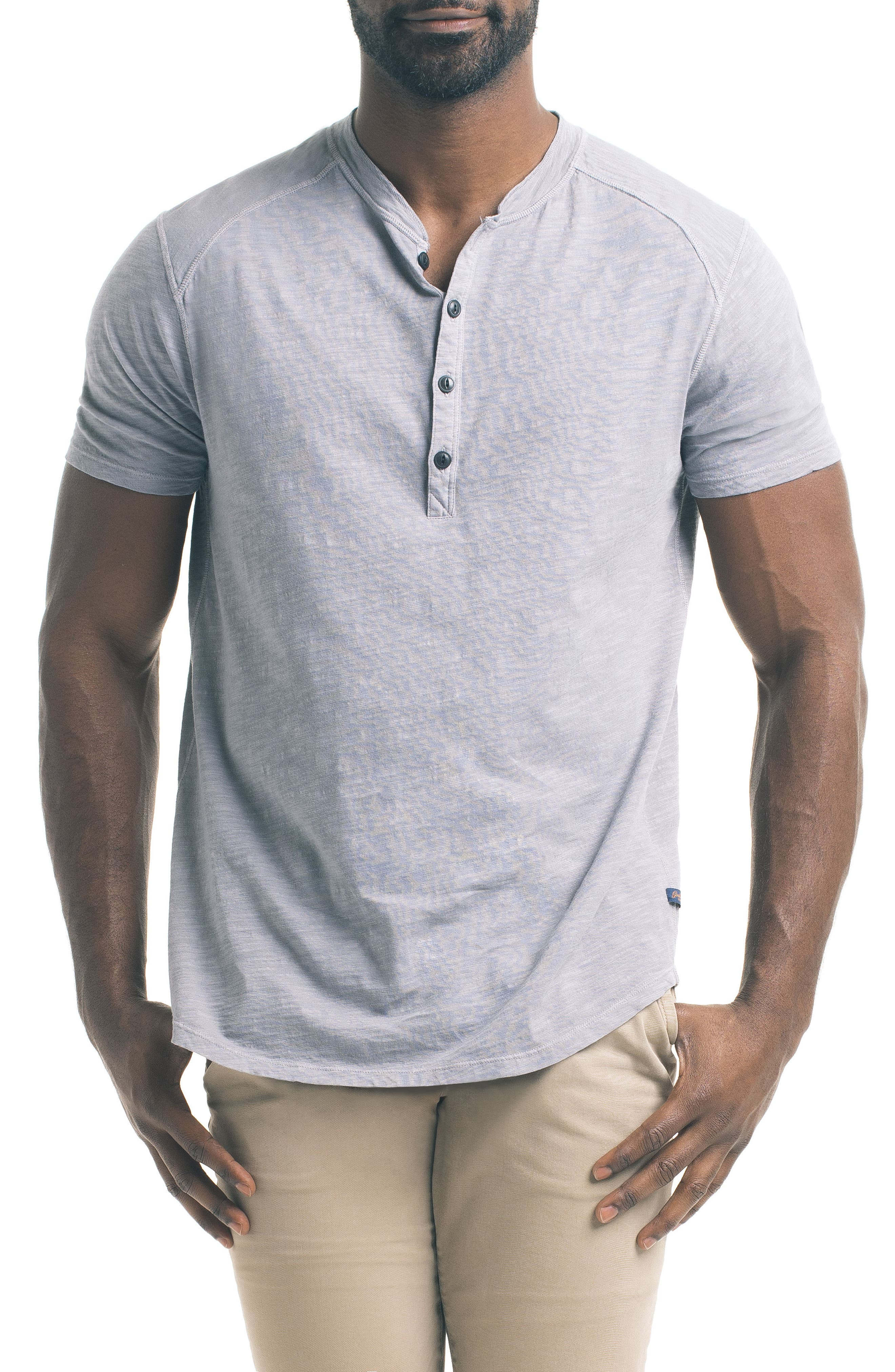 Short Sleeve Slub Henley,                             Main thumbnail 1, color,