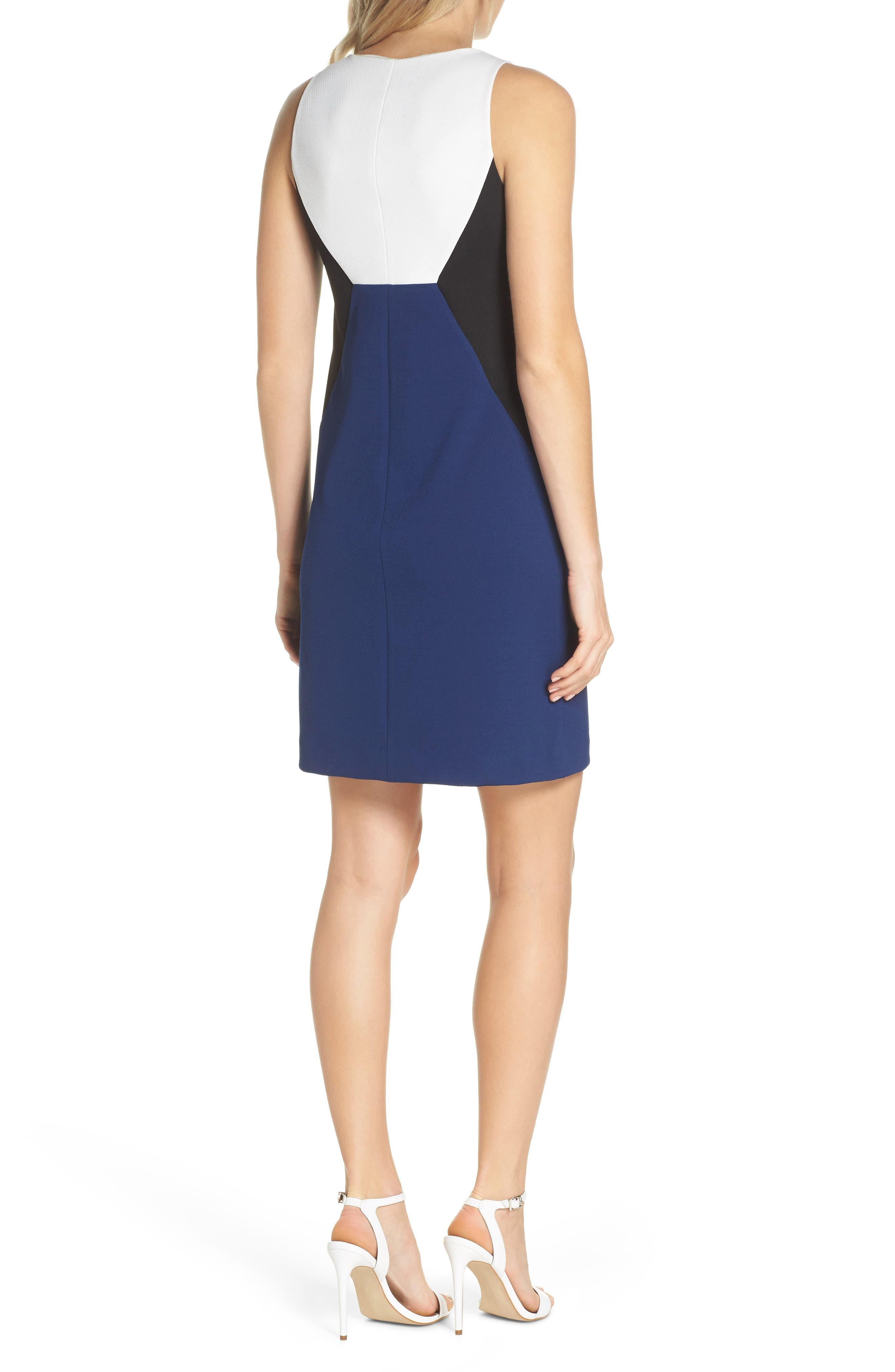 Evelyn Colorblock Sheath Dress,                             Alternate thumbnail 2, color,                             460