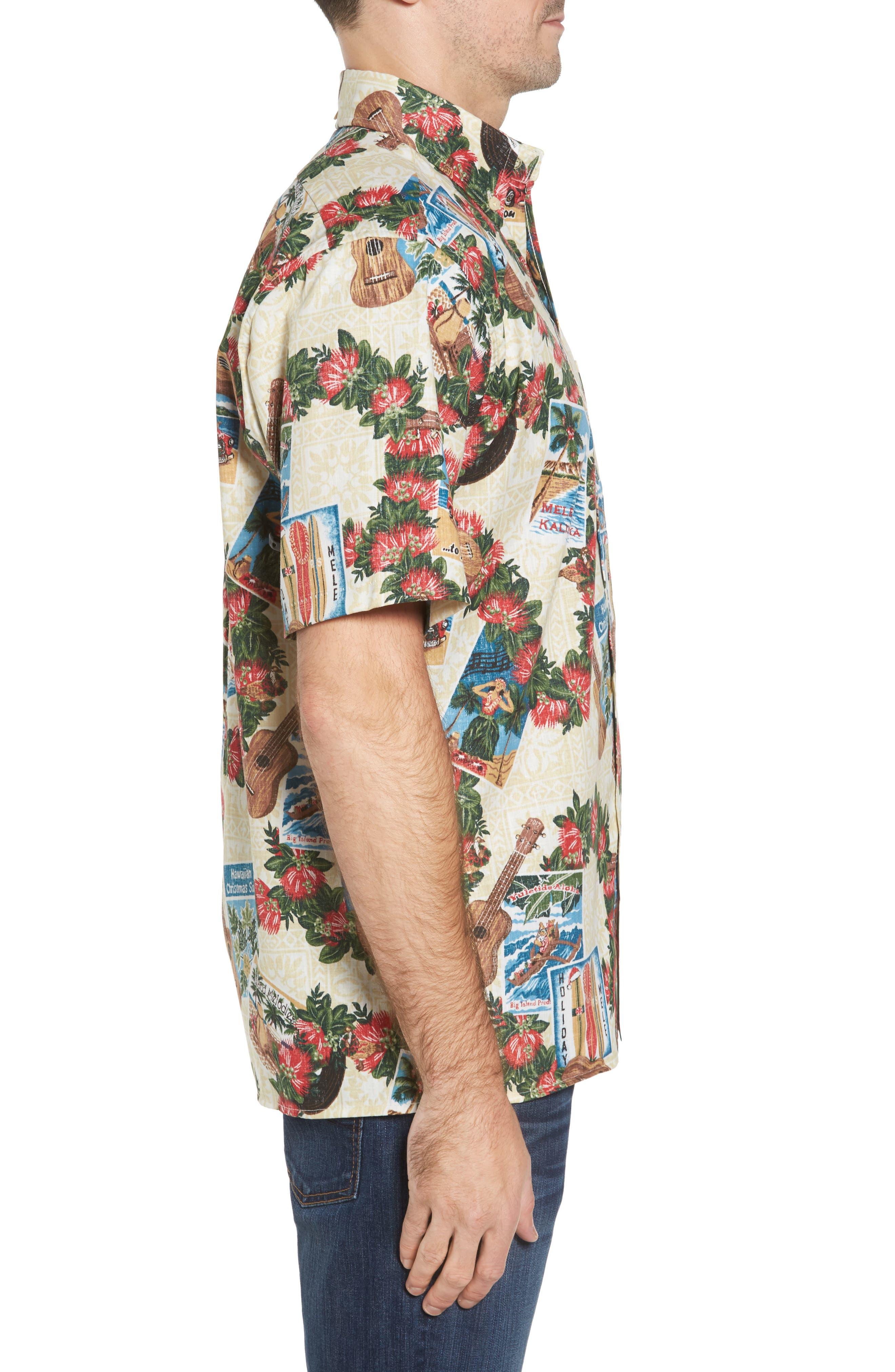Hawaiian Christmas 2017 Sport Shirt,                             Alternate thumbnail 3, color,                             104
