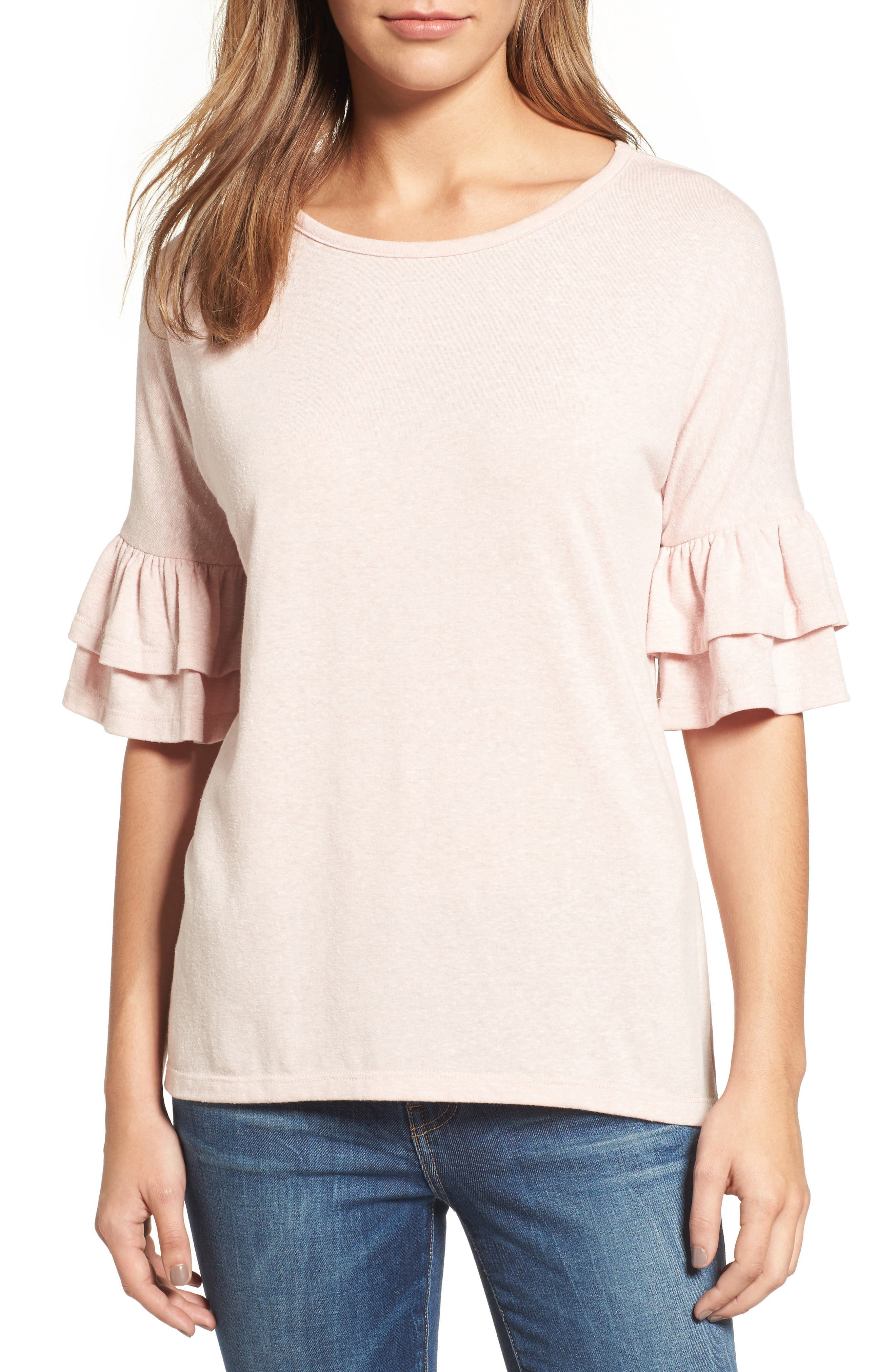 Tiered Bell Sleeve Tee,                             Main thumbnail 8, color,