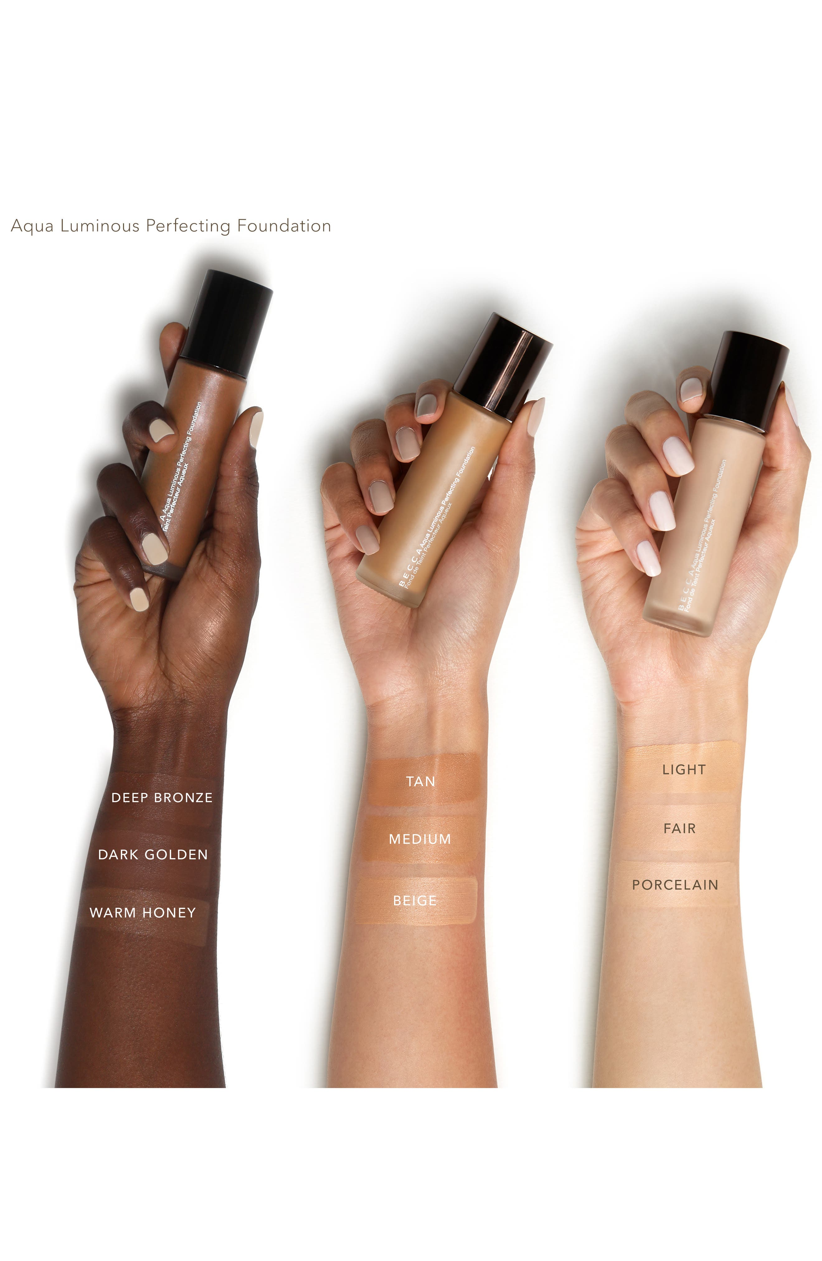 BECCA Aqua Luminous Perfecting Foundation,                             Alternate thumbnail 2, color,                             DARK GOLDEN
