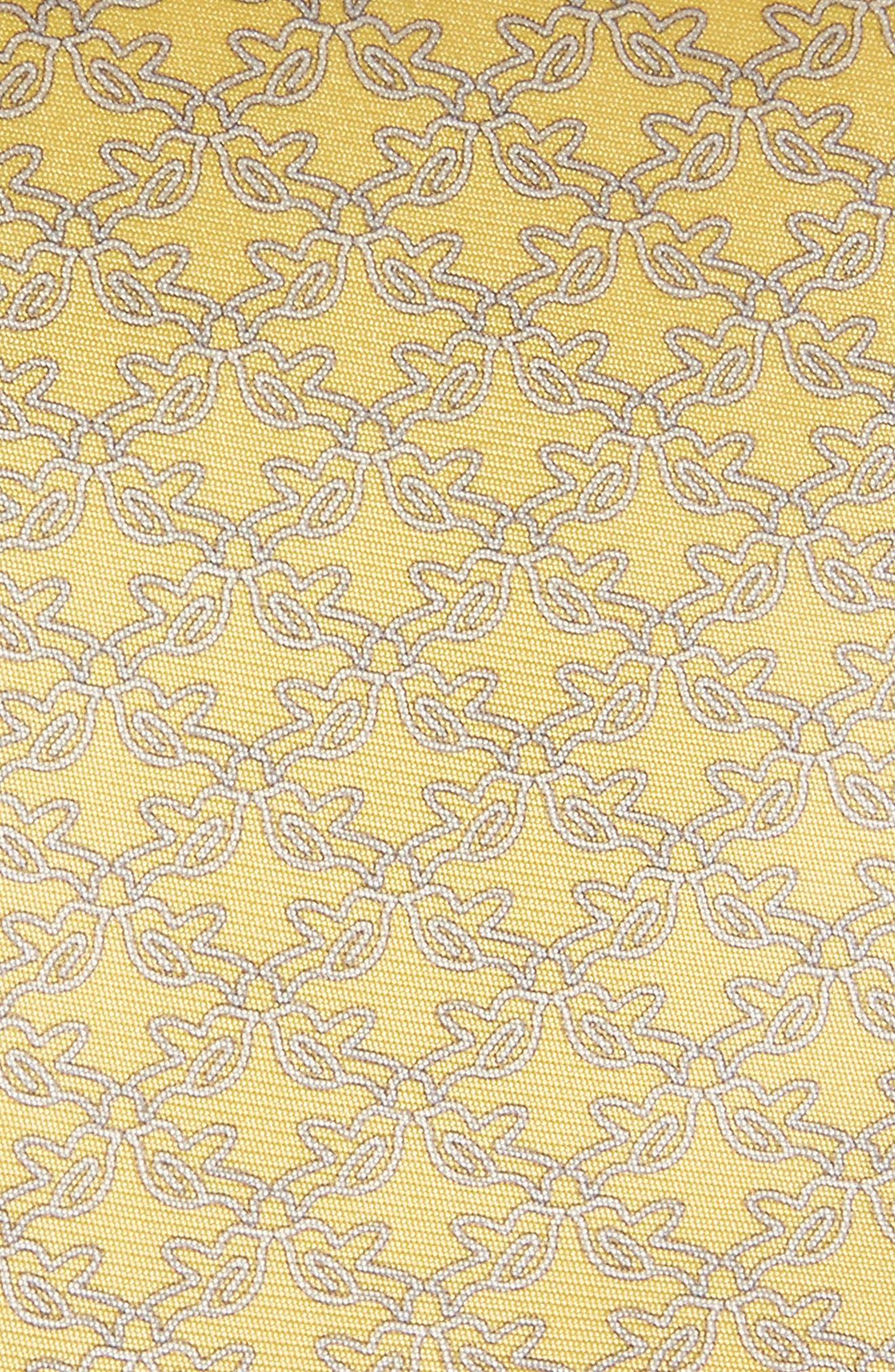 Bird Print Silk Tie,                             Alternate thumbnail 6, color,