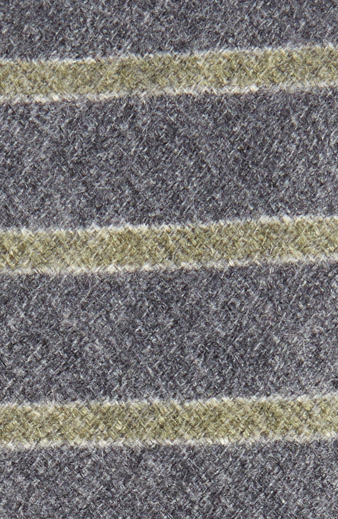 Horizontal Stripe Wool & Silk Skinny Tie,                             Alternate thumbnail 2, color,                             061