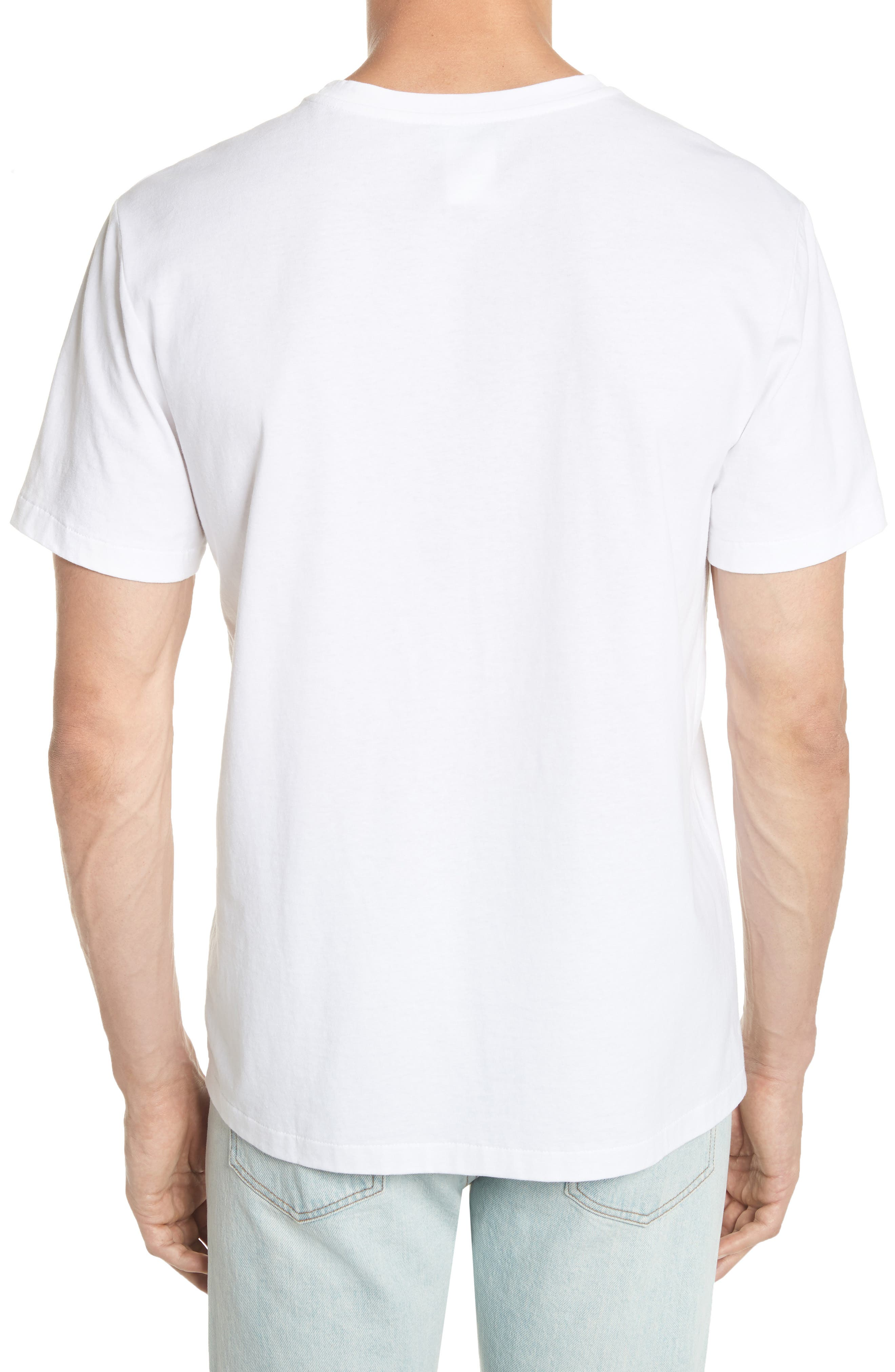 Bastien Logo Graphic T-Shirt,                             Alternate thumbnail 2, color,                             WHITE