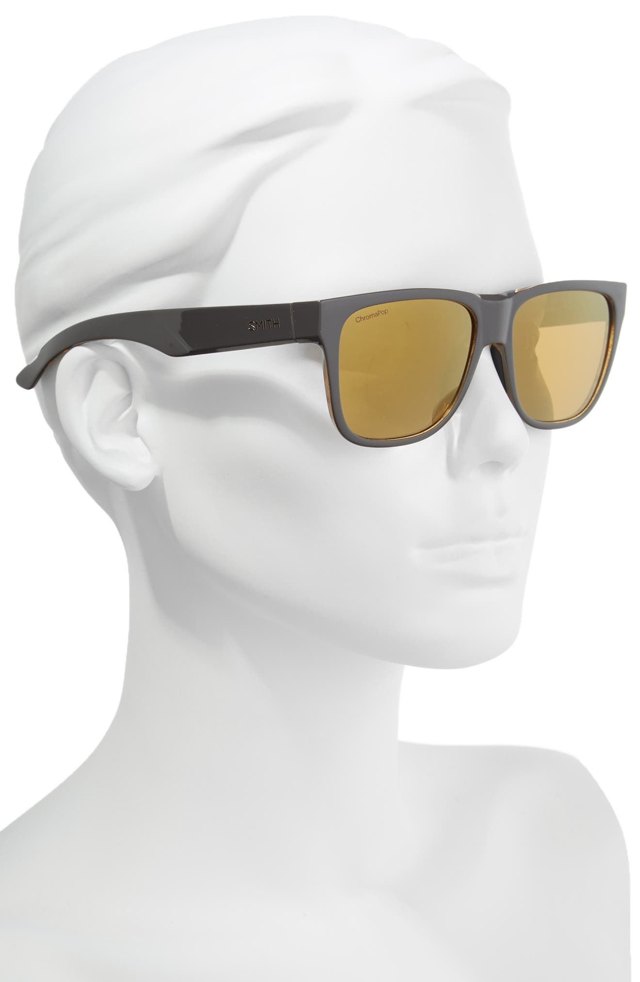 Lowdown 2 55mm ChromaPop<sup>™</sup> Square Sunglasses,                             Alternate thumbnail 2, color,                             GRAVY TORTOISE