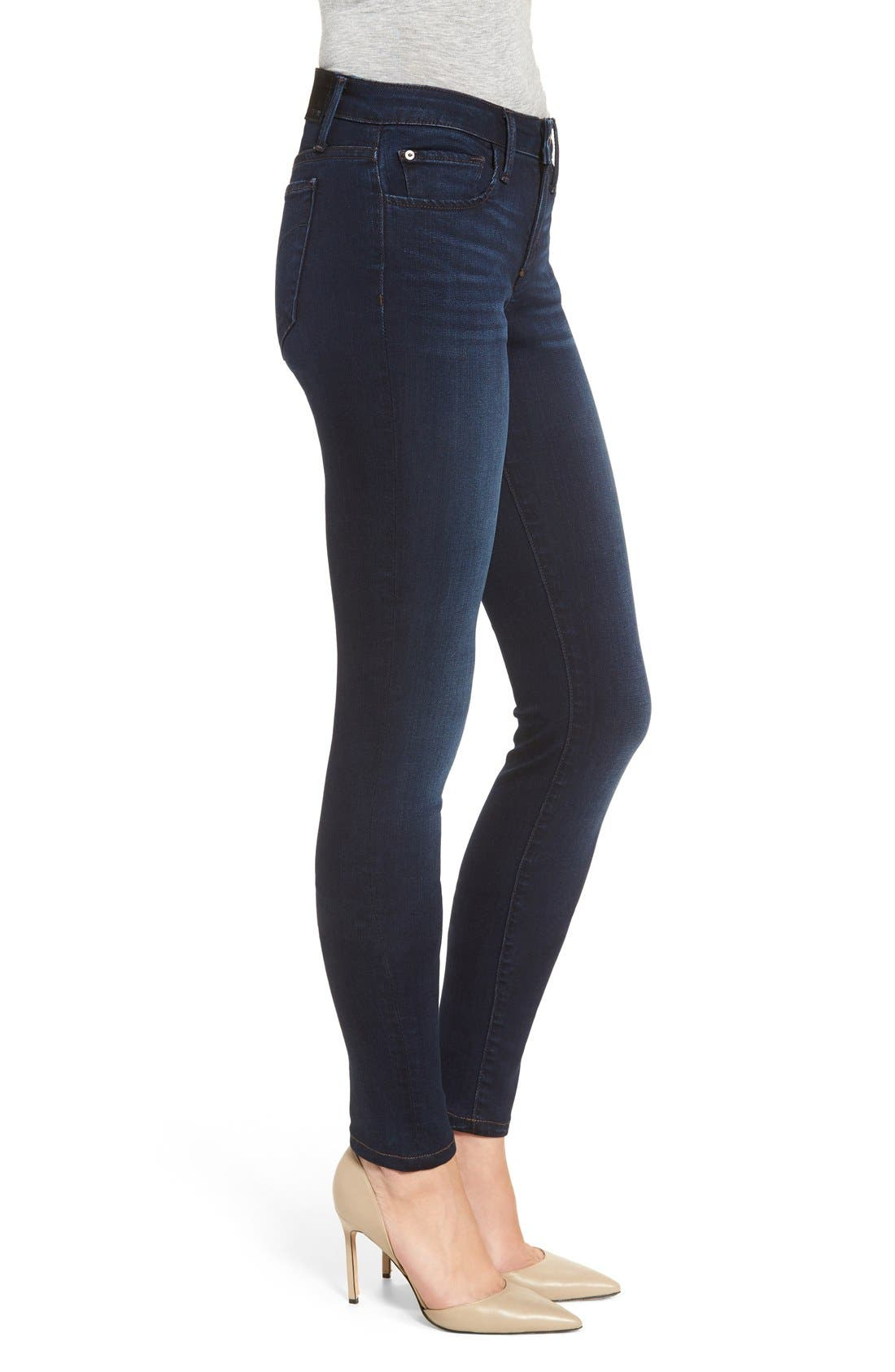'Flawless - Twiggy' Skinny Jeans,                             Alternate thumbnail 3, color,                             400