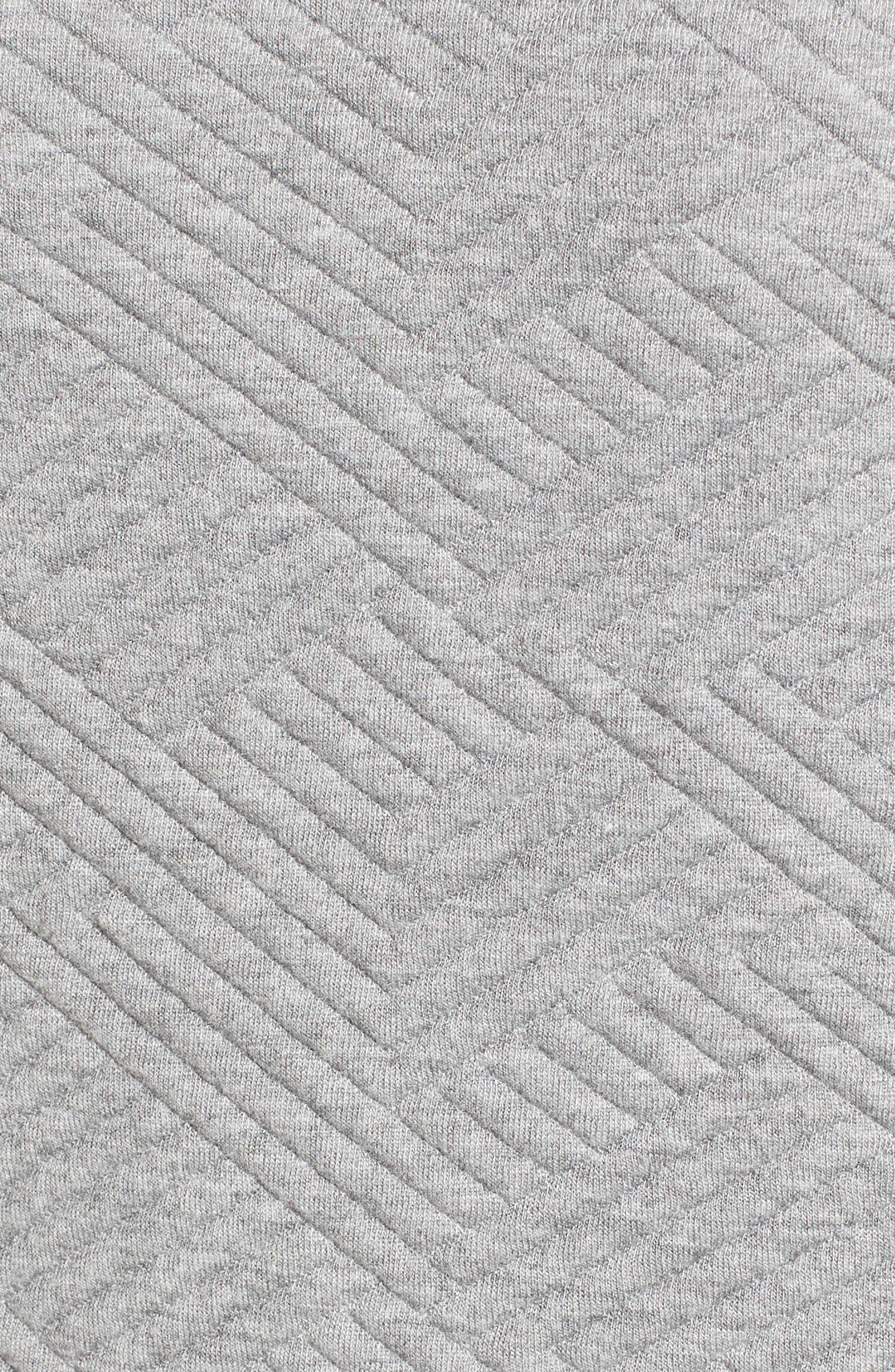 Textured Elbow Sleeve Tunic Dress,                             Alternate thumbnail 7, color,                             030