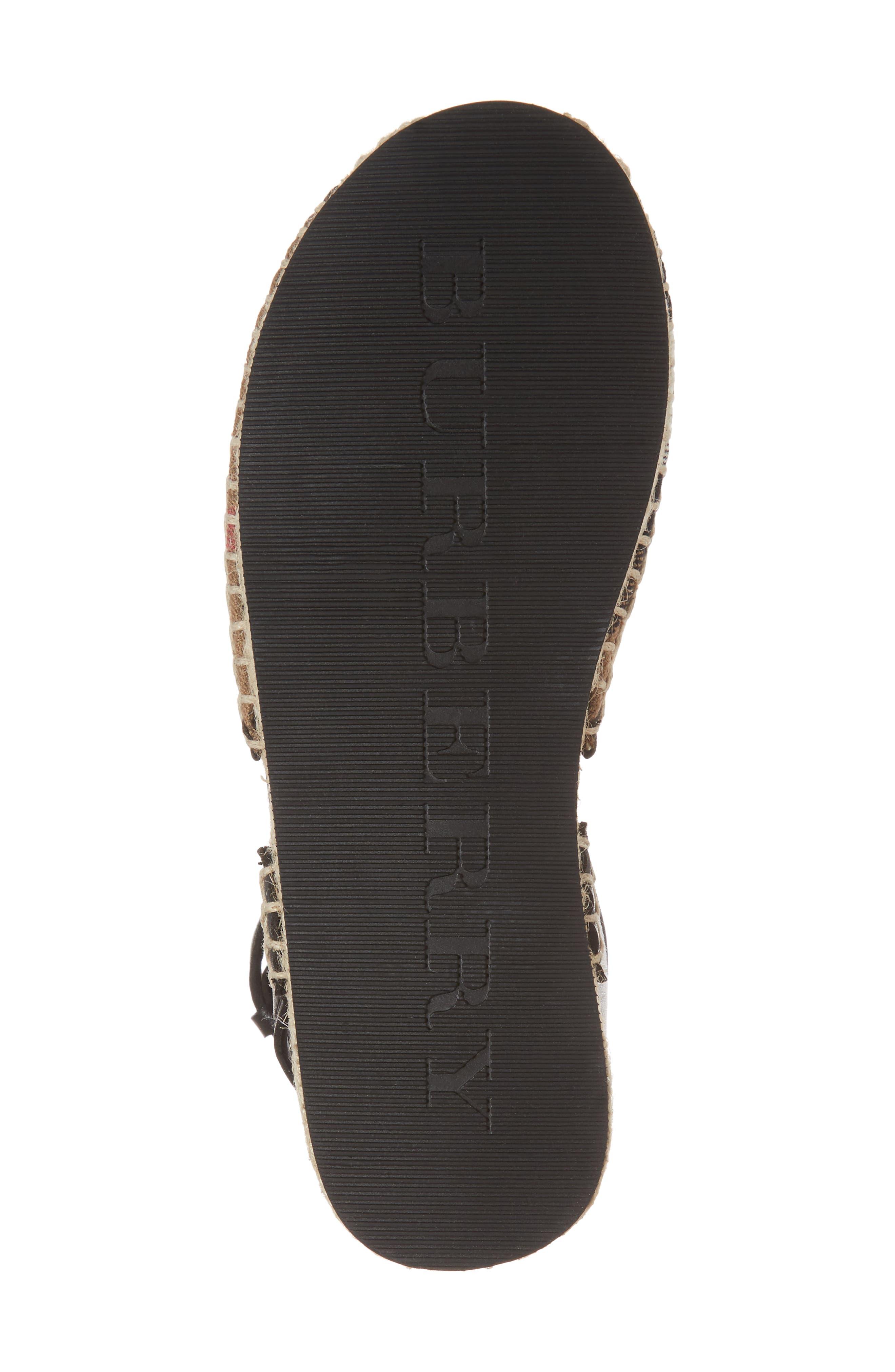 Perth Ankle Strap Sandal,                             Alternate thumbnail 6, color,                             BLACK