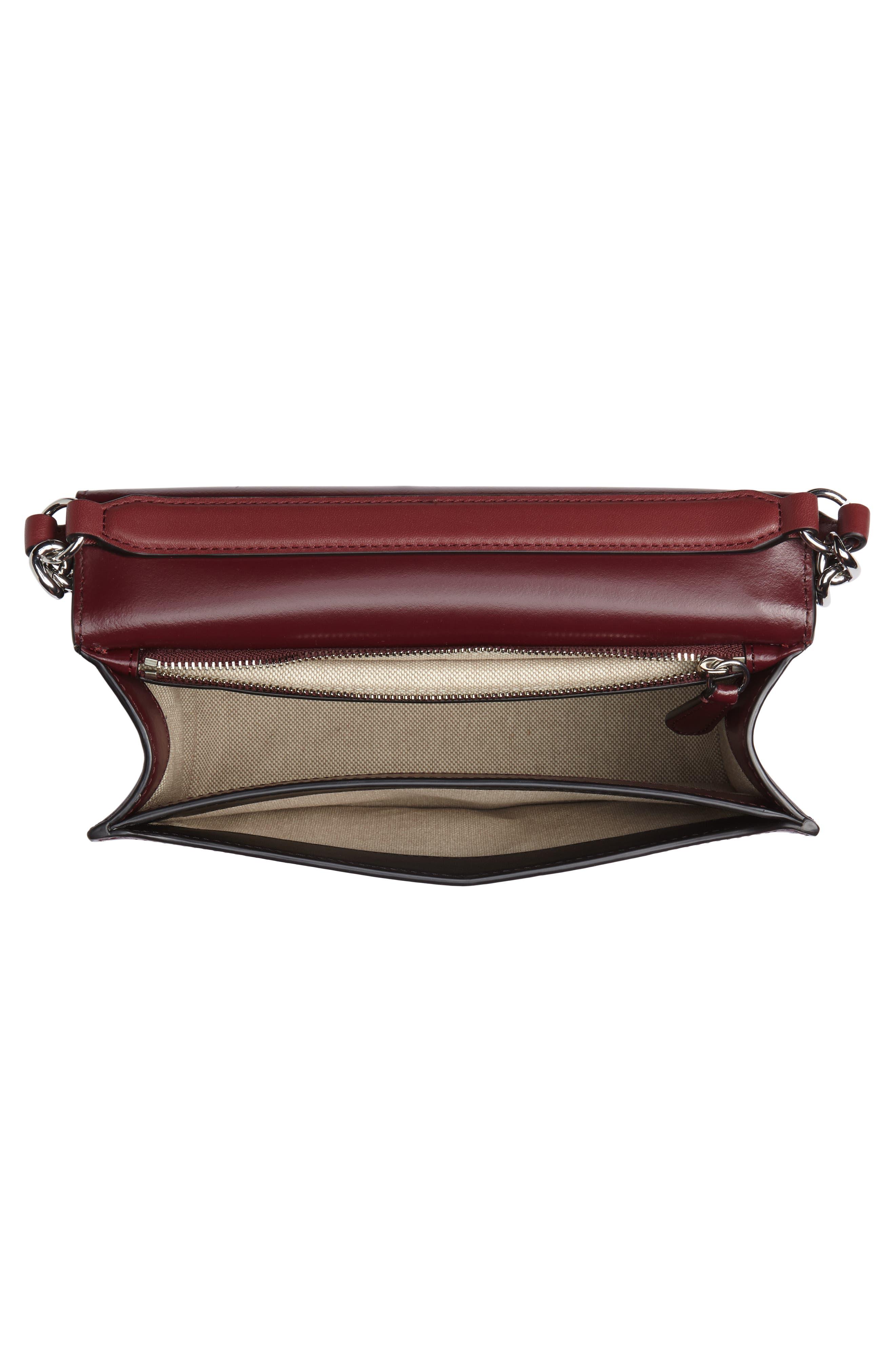 Bonne Soirée Leather & Genuine Snakeskin Top Handle Bag,                             Alternate thumbnail 4, color,