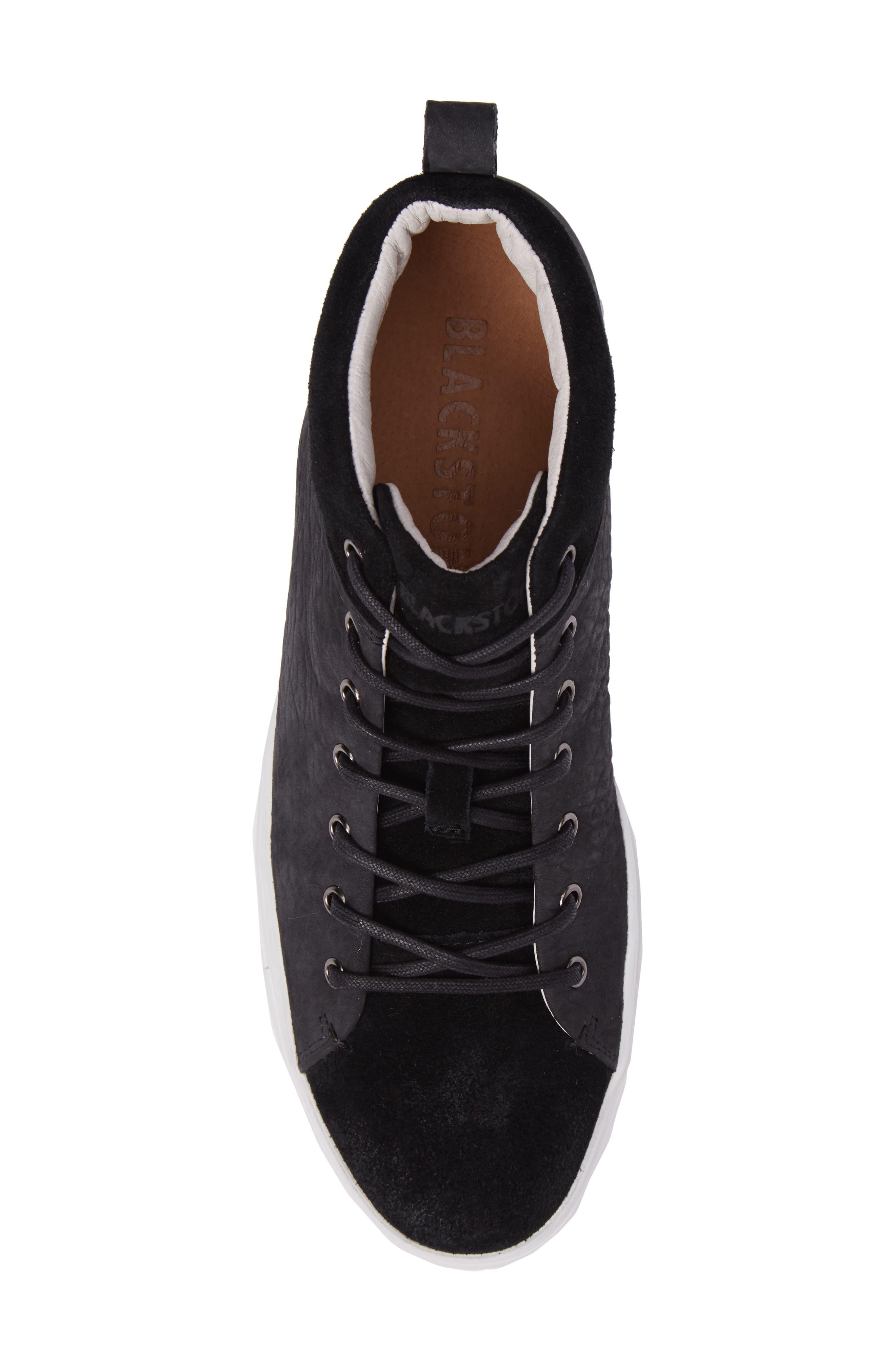 OM 56 Sneaker,                             Alternate thumbnail 5, color,                             BLACK LEATHER