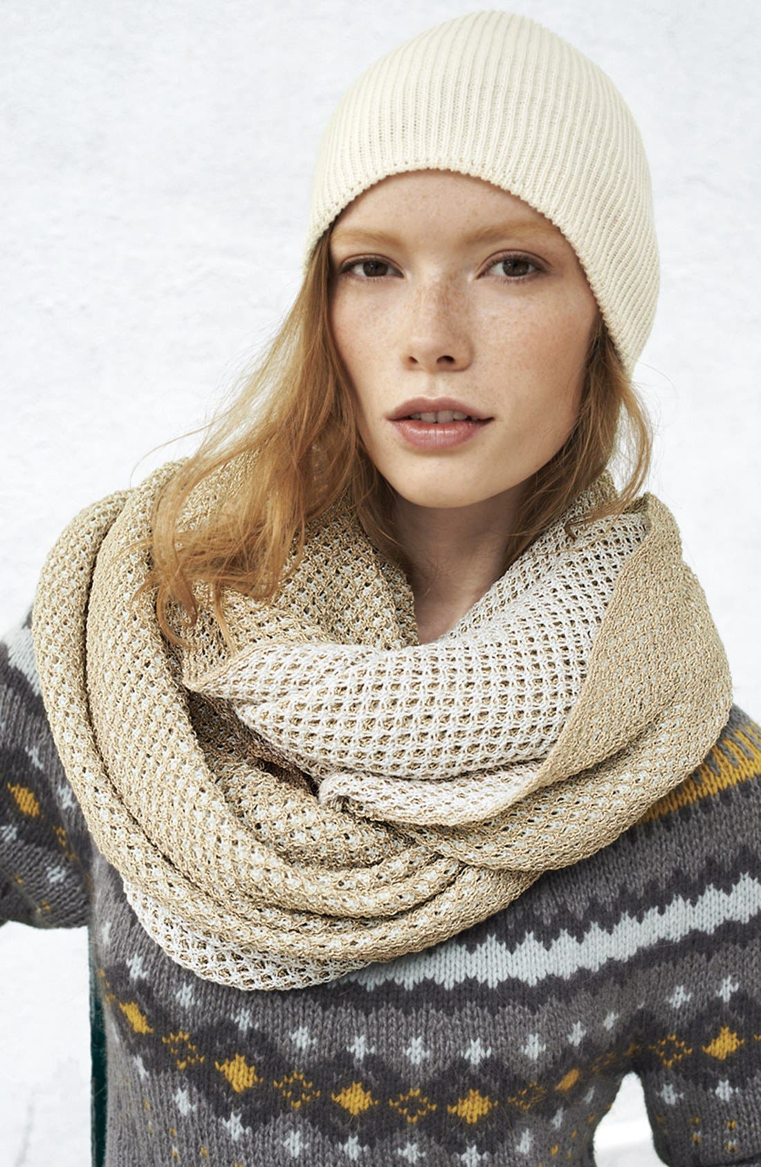 'Seasonless' Slouchy Knit Cap,                             Alternate thumbnail 4, color,                             001