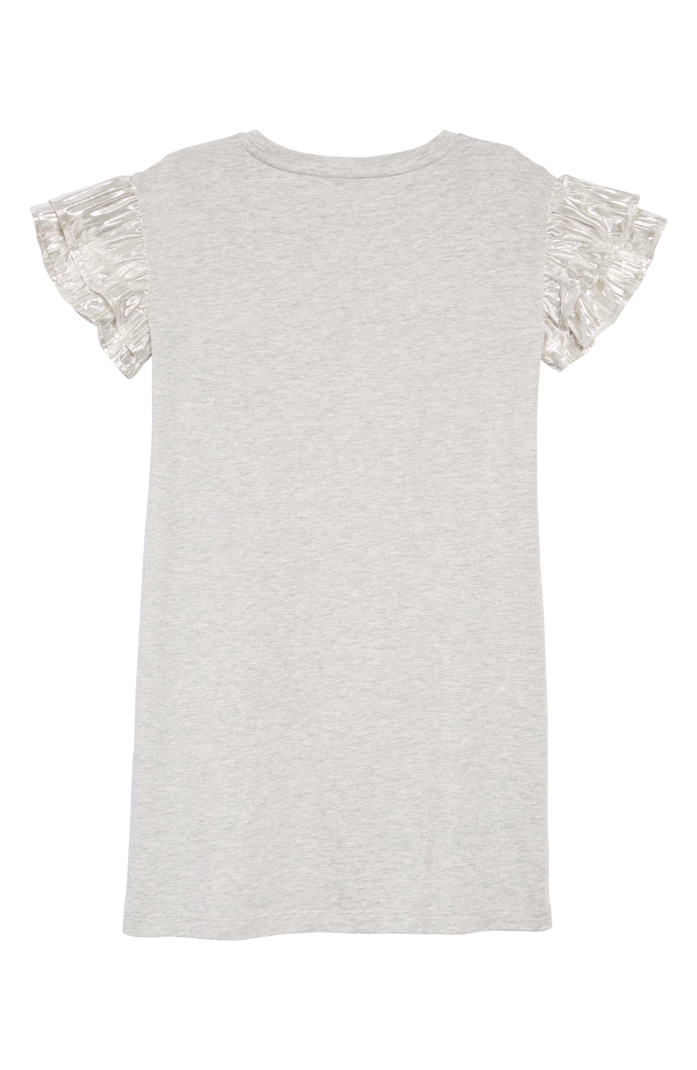 T-Shirt Dress,                             Alternate thumbnail 2, color,                             HEATHER DUSK