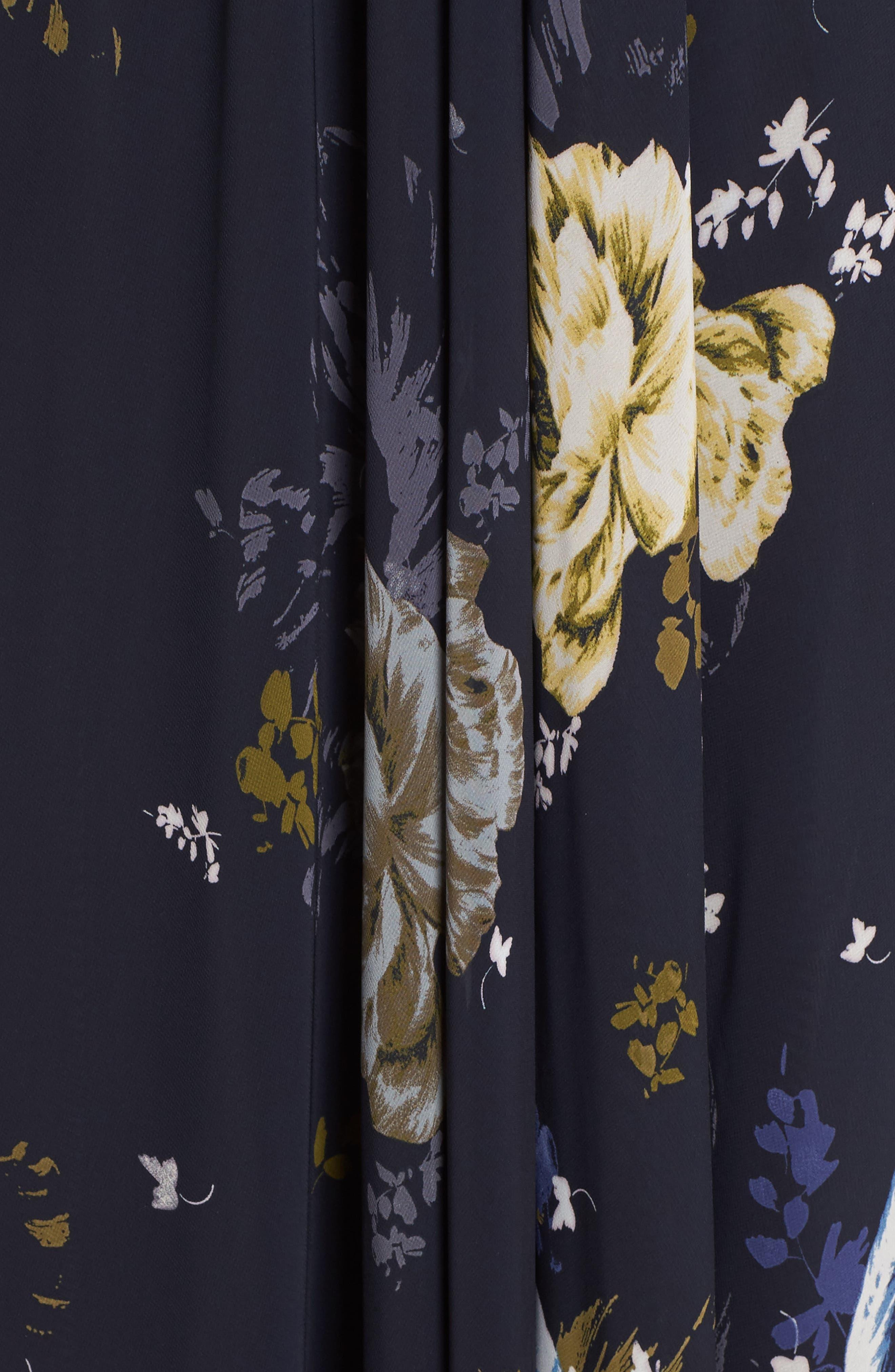 Lace Trim Cutout Gown,                             Alternate thumbnail 5, color,