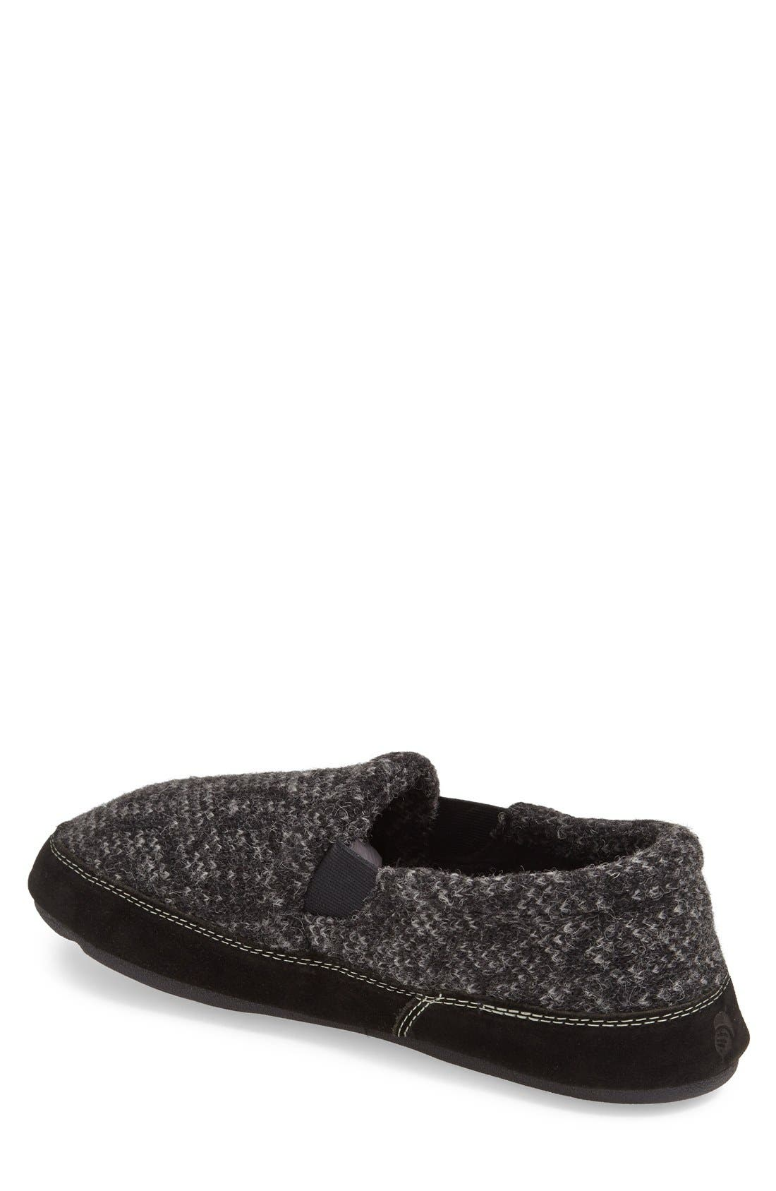 'Fave' Slipper,                             Alternate thumbnail 2, color,                             CHARCOAL TWEED