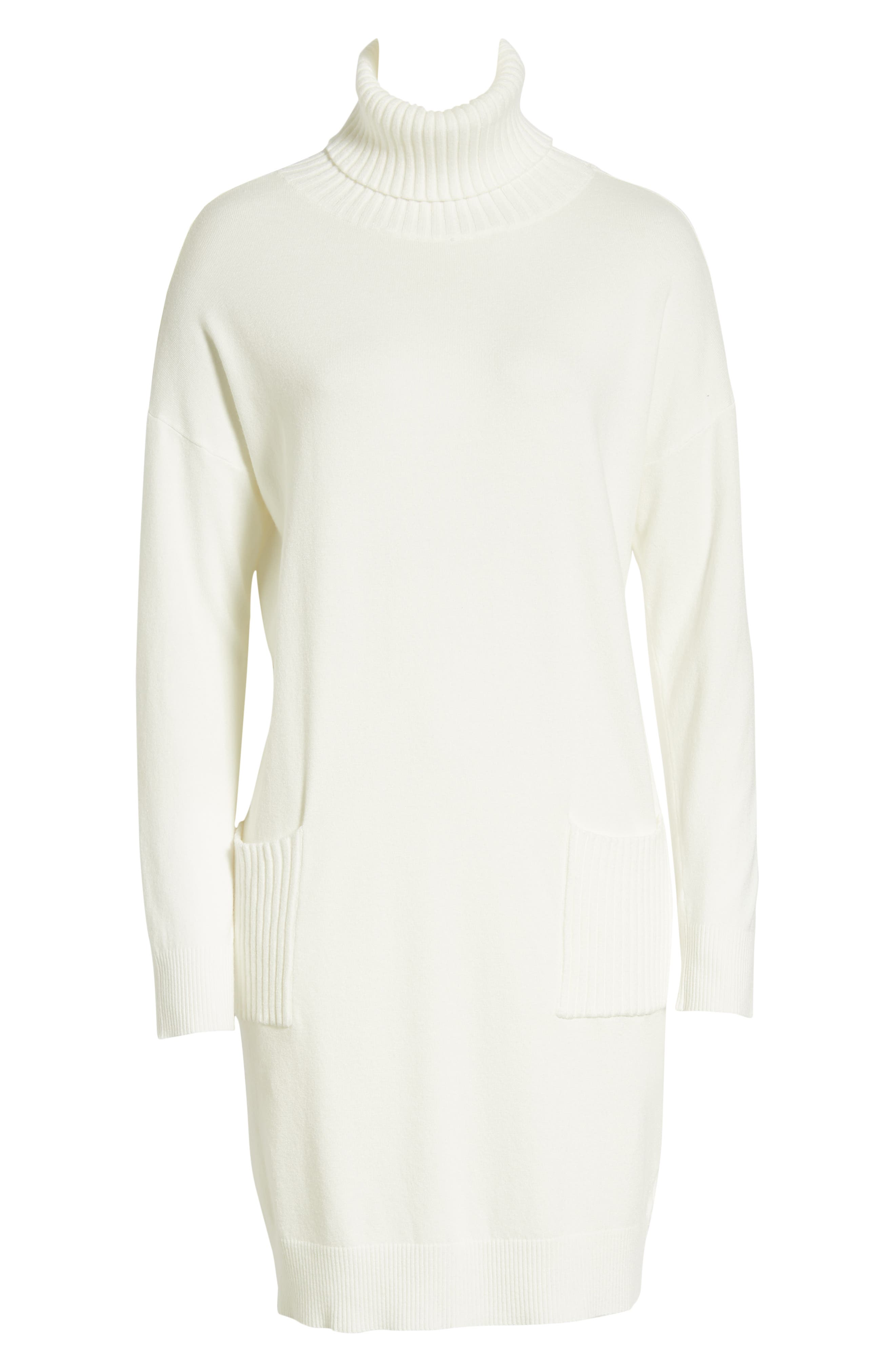 DREAMERS BY DEBUT,                             Turtleneck Sweater Dress,                             Alternate thumbnail 7, color,                             900