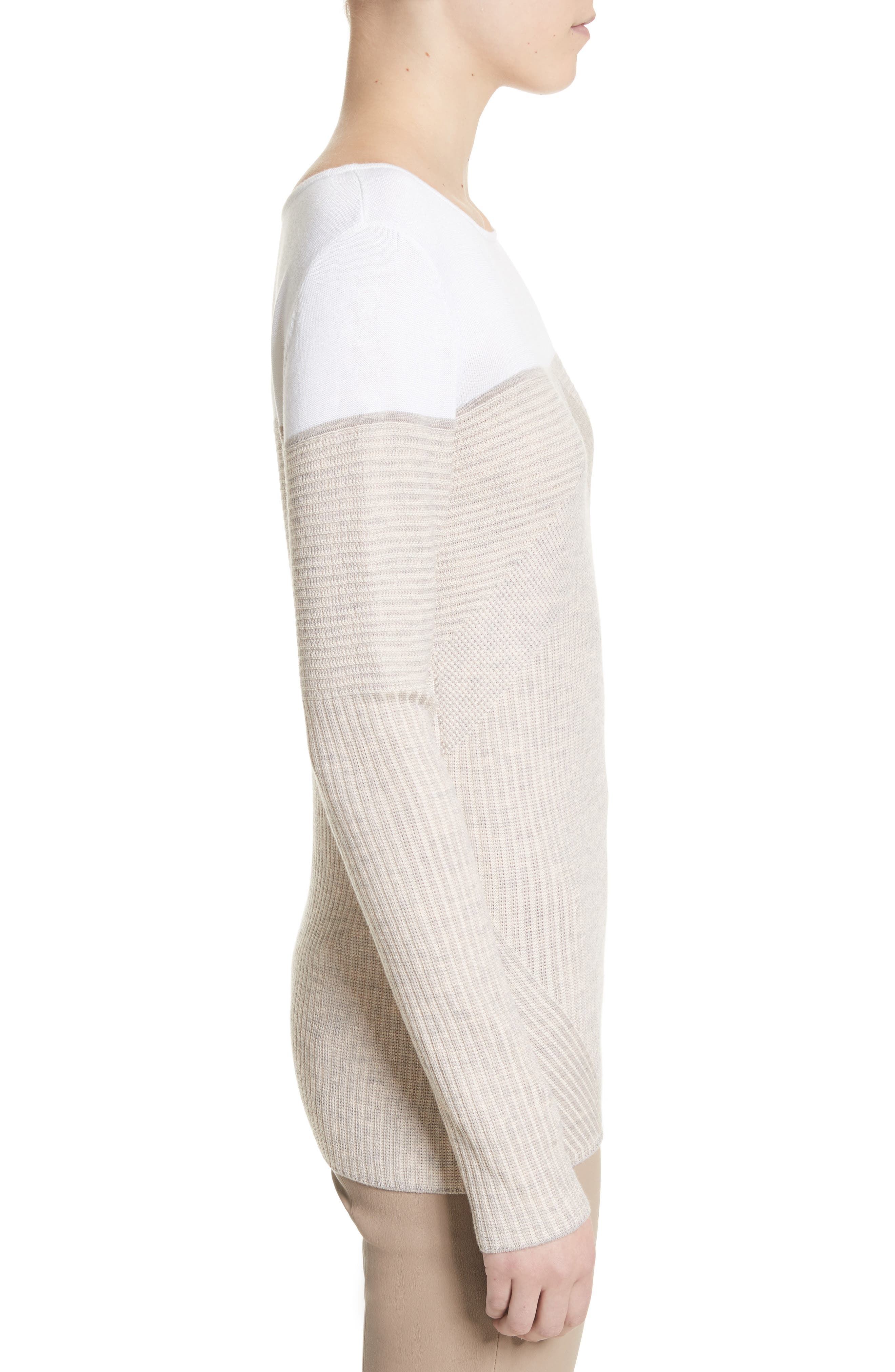 Tech Rib Knit Sweater,                             Alternate thumbnail 3, color,                             200