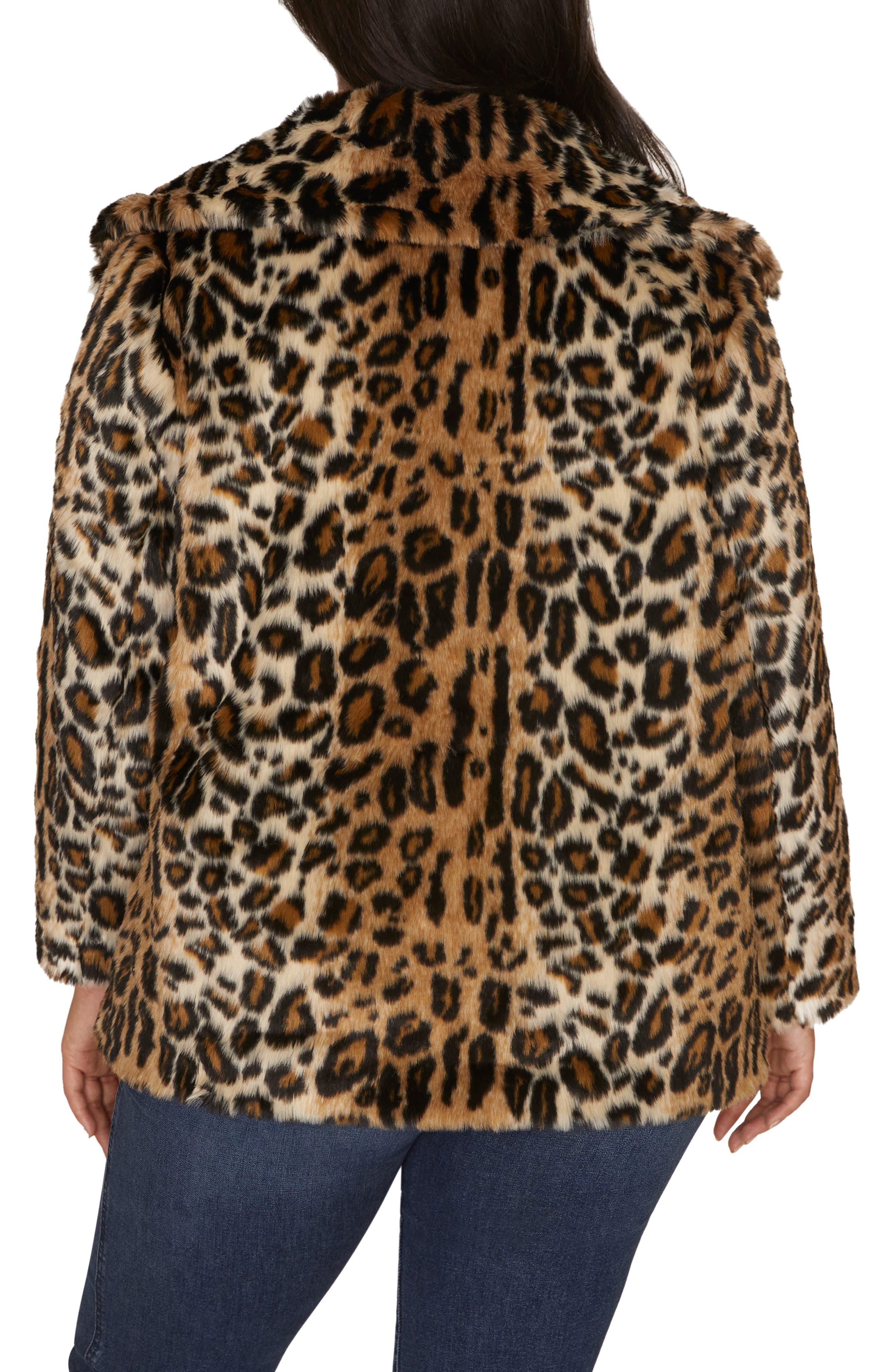 Seeing Spots Faux Fur Coat,                             Alternate thumbnail 2, color,                             200