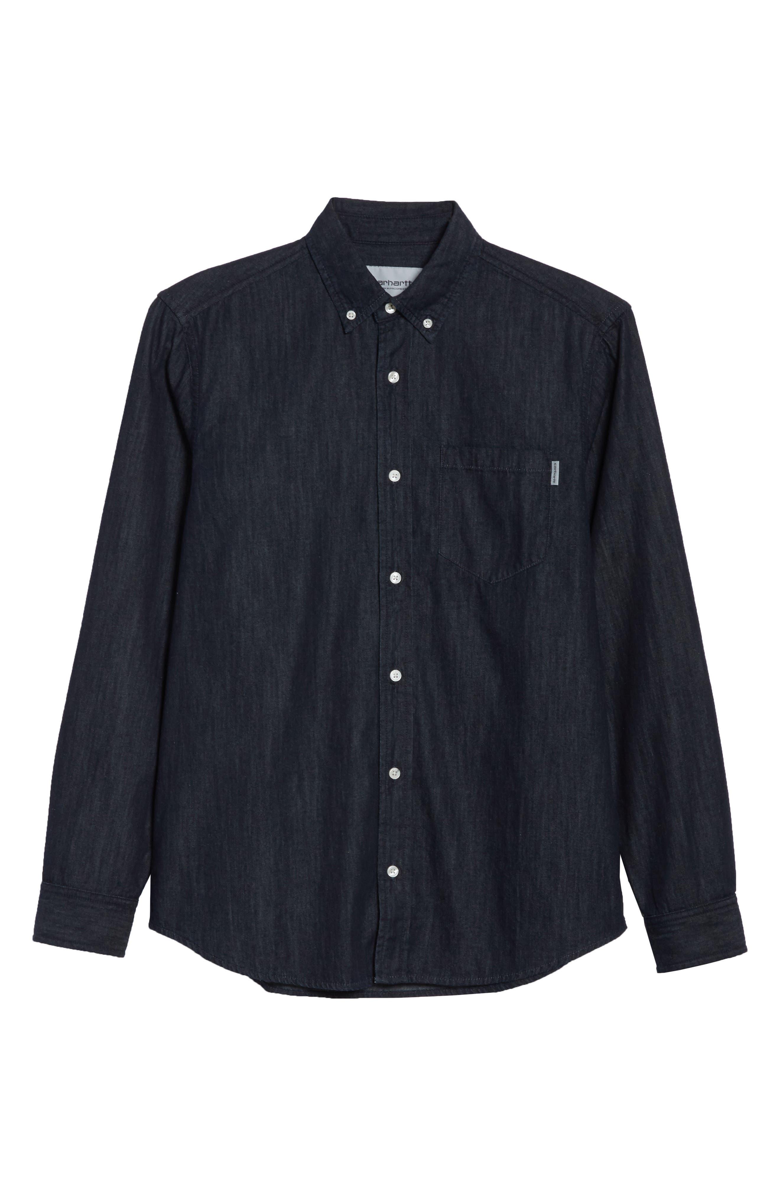 Civil Denim Shirt,                             Alternate thumbnail 6, color,                             400