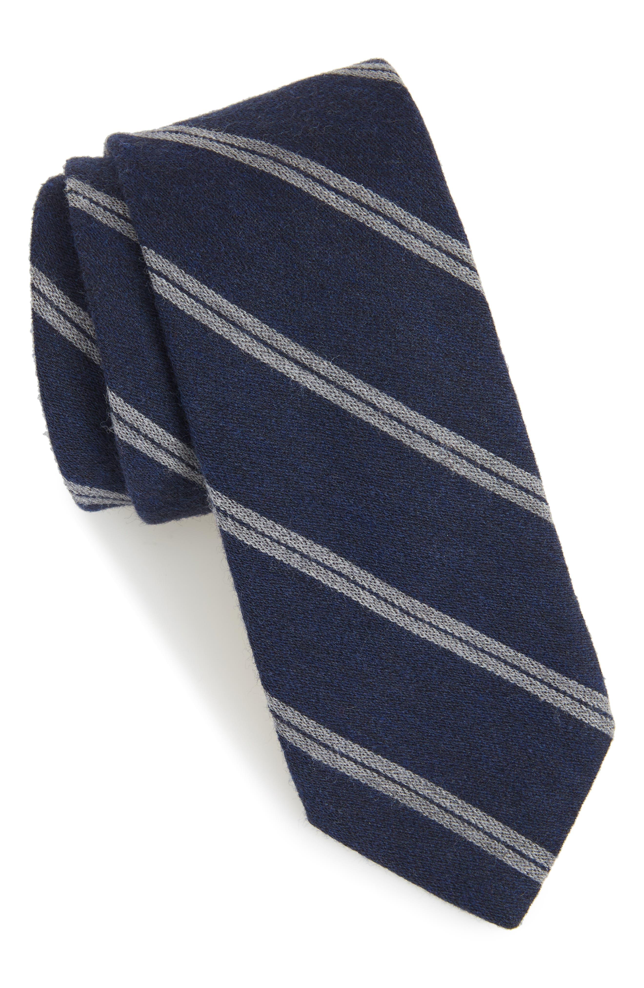 Deo Stripe Wool Tie,                         Main,                         color, 410
