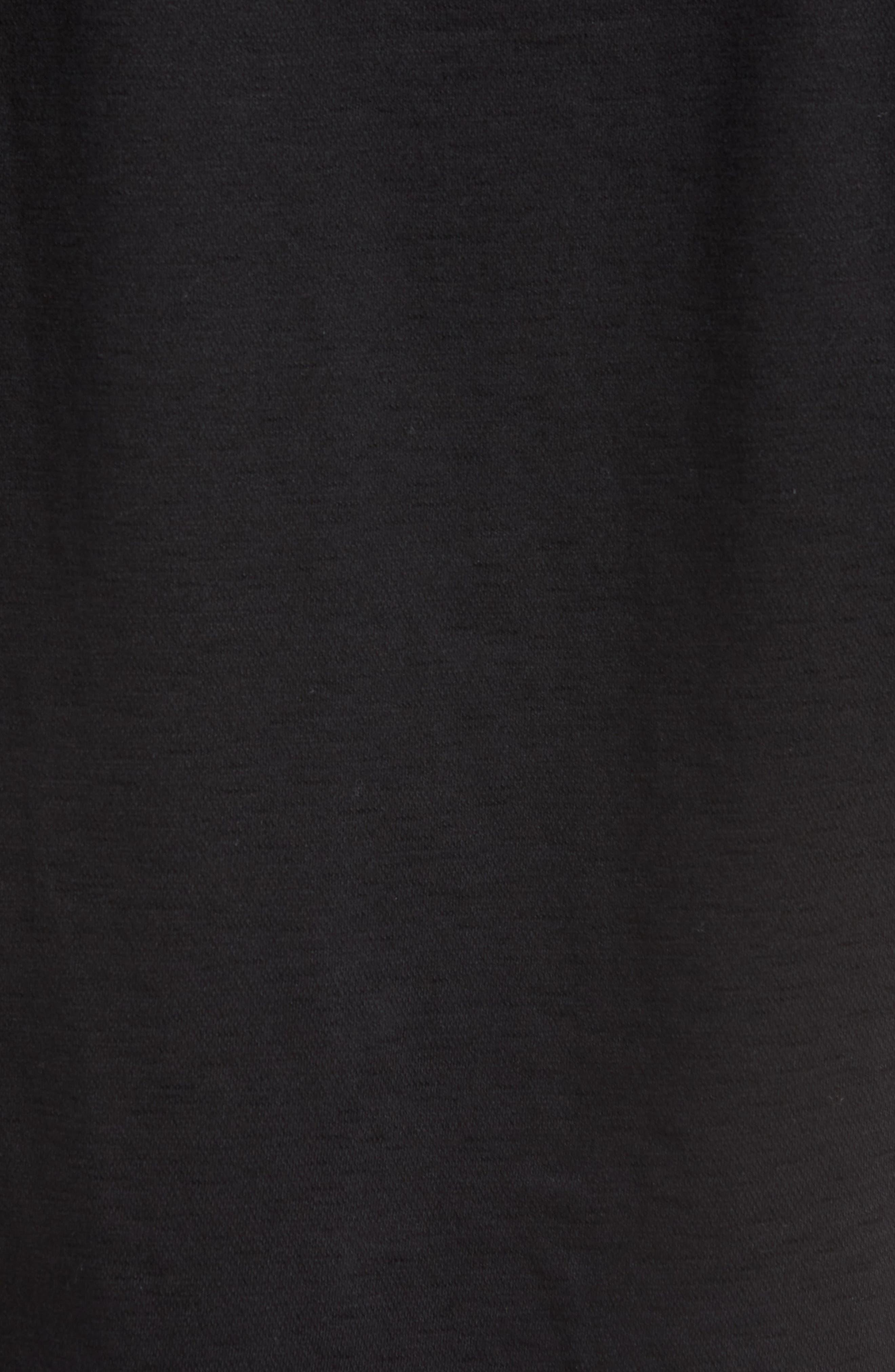 Flame Contemporary Fit Sport Shirt,                             Alternate thumbnail 5, color,                             BLACK
