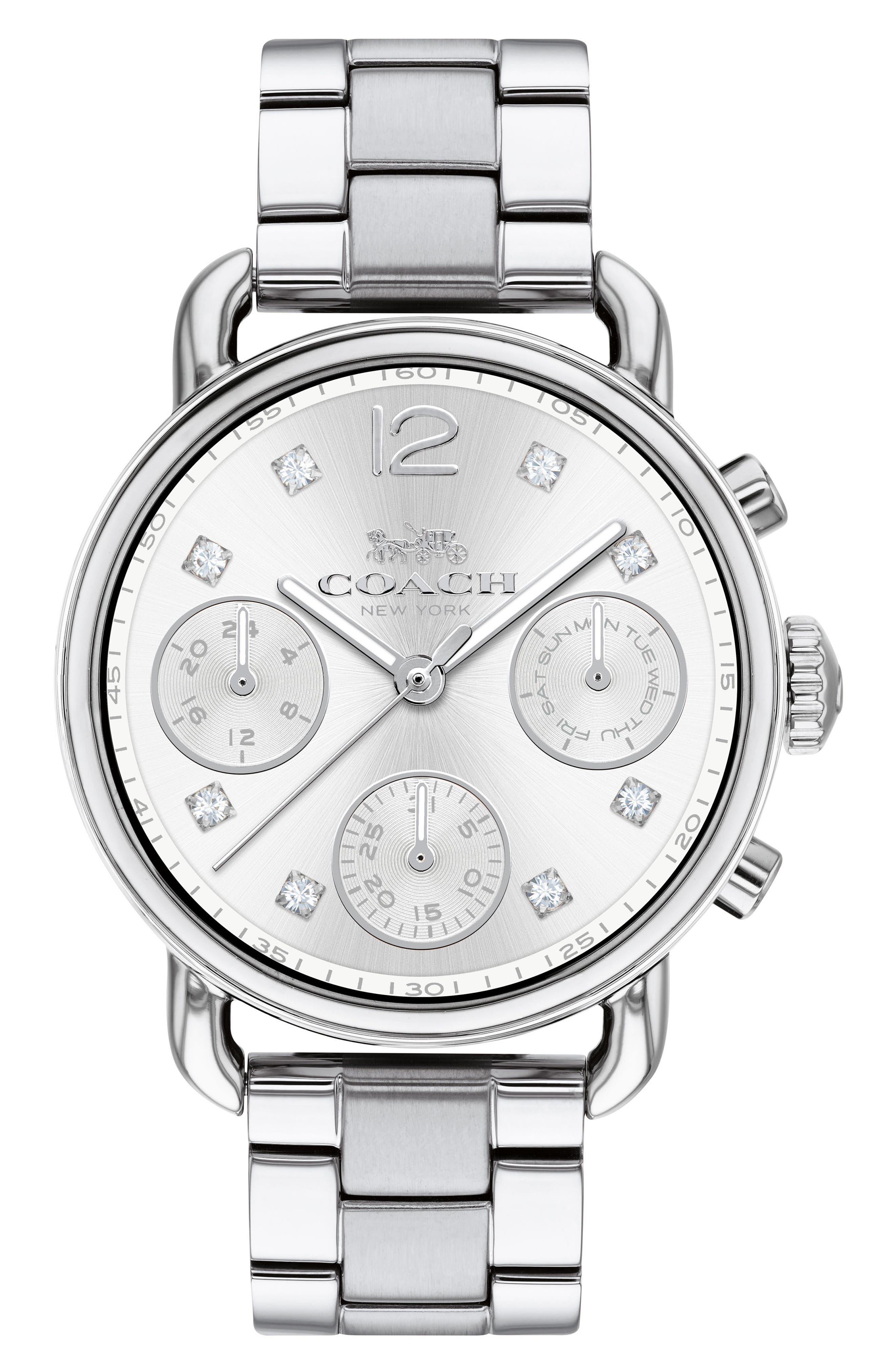 Delancey Chronograph Crystal Accent Bracelet Watch, 36mm,                         Main,                         color,