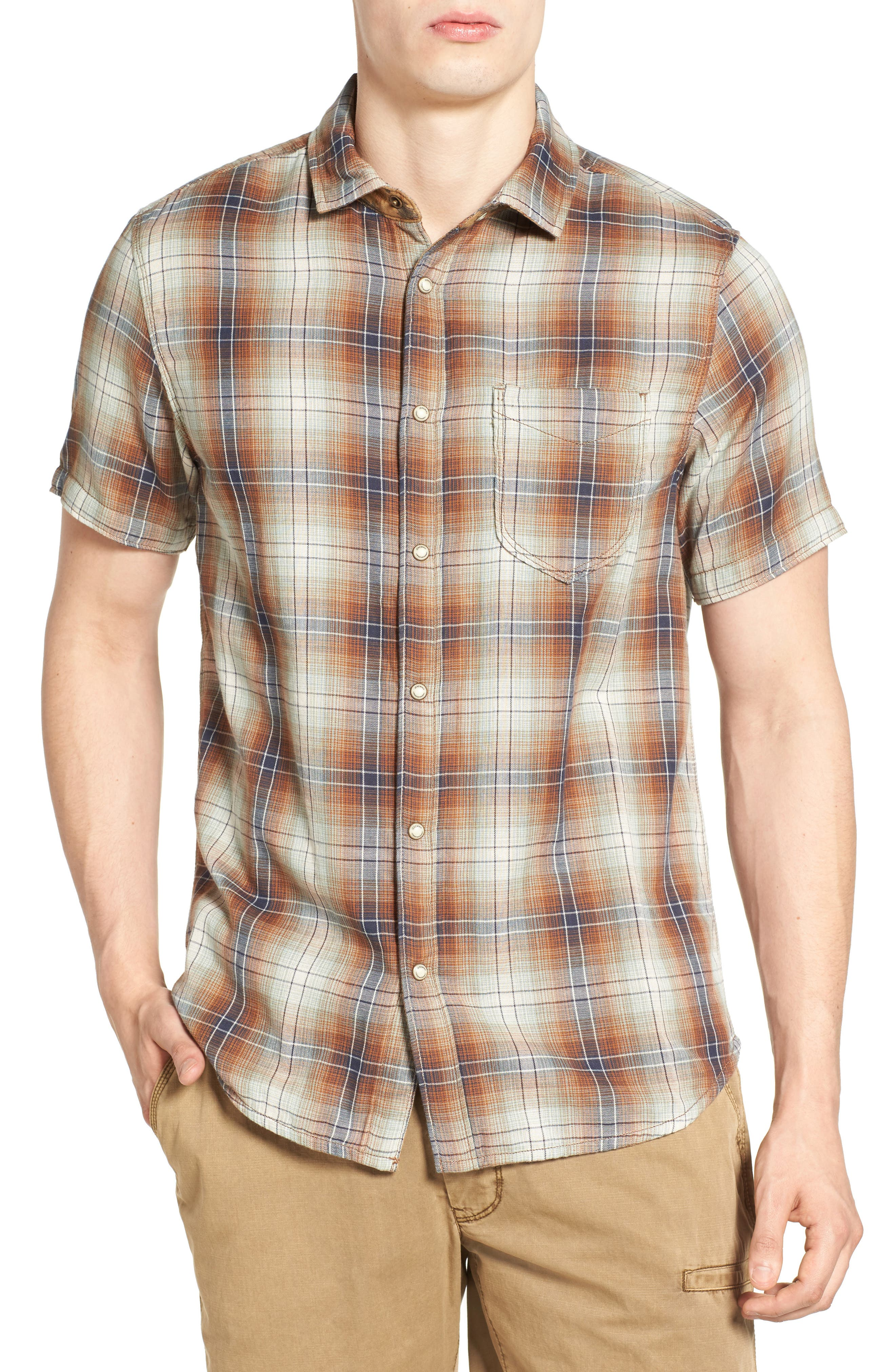 Badlands Regular Fit Reversible Plaid Sport Shirt,                             Main thumbnail 1, color,