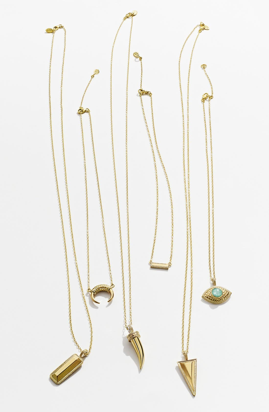 Mini Horn Pendant Necklace,                             Alternate thumbnail 3, color,                             040