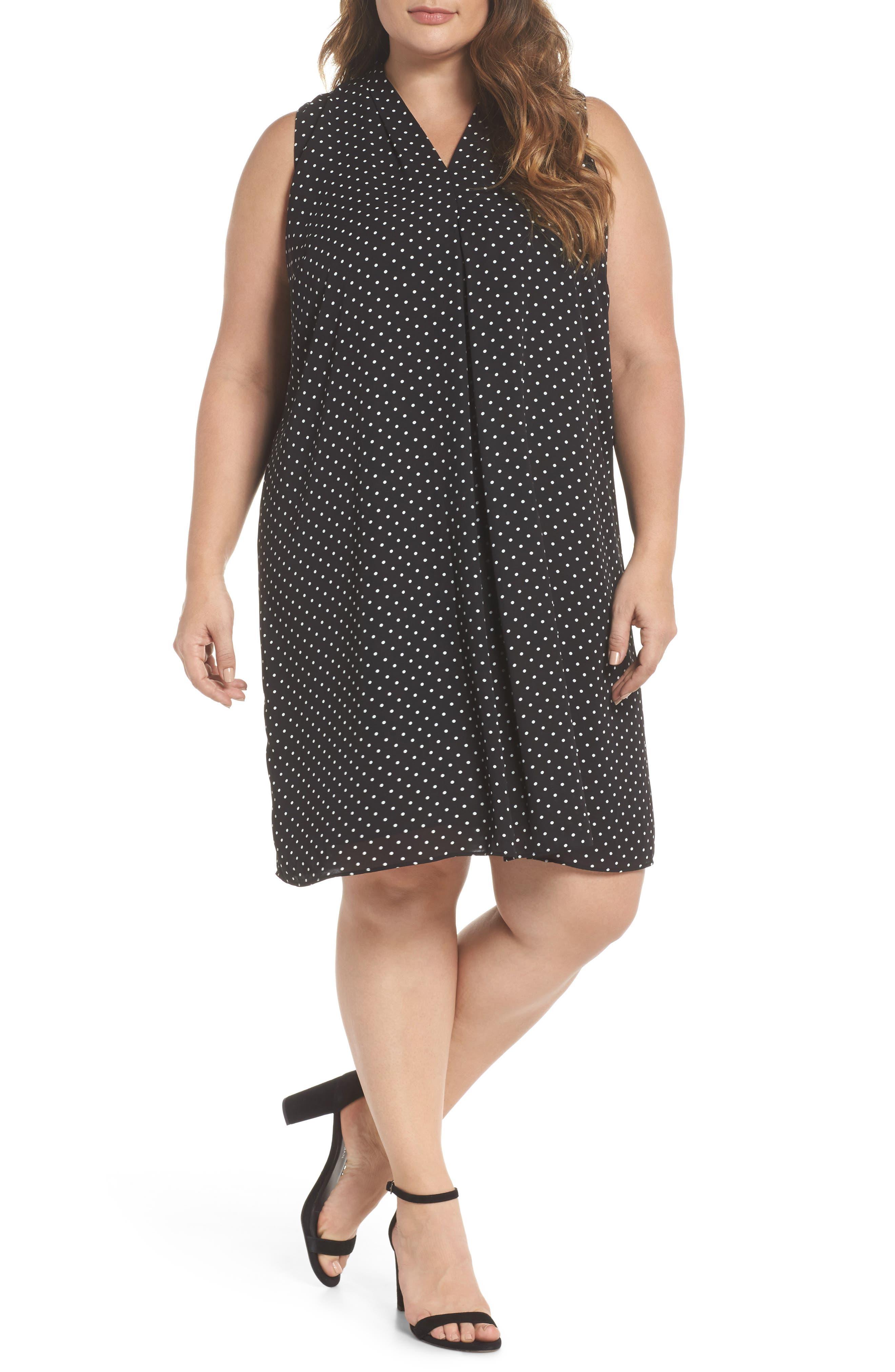 Poetic Dots Shift Dress,                         Main,                         color, 001
