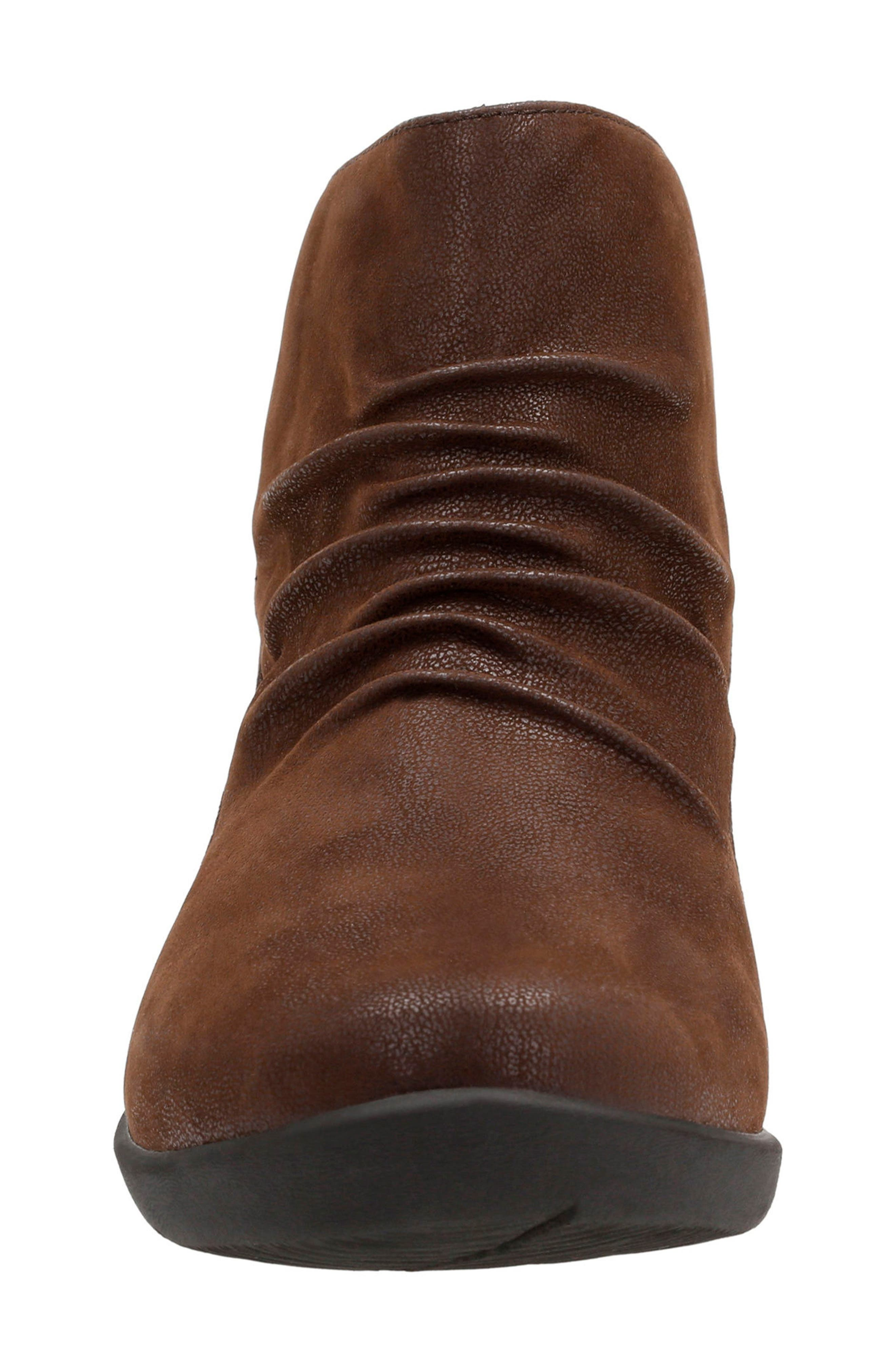 Sillian Sway Boot,                             Alternate thumbnail 4, color,                             BROWN FABRIC