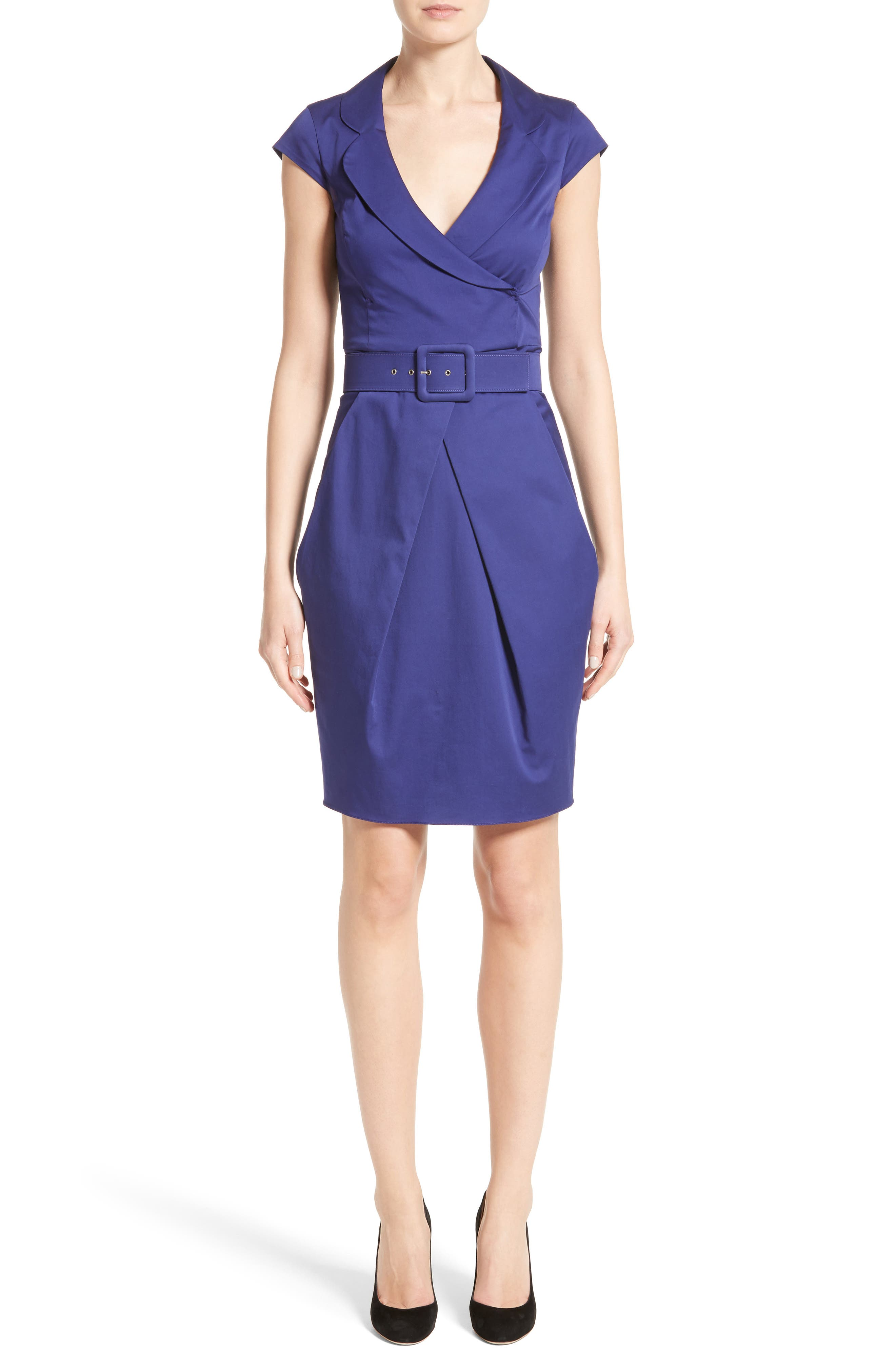 Belted Sheath Dress,                             Main thumbnail 1, color,