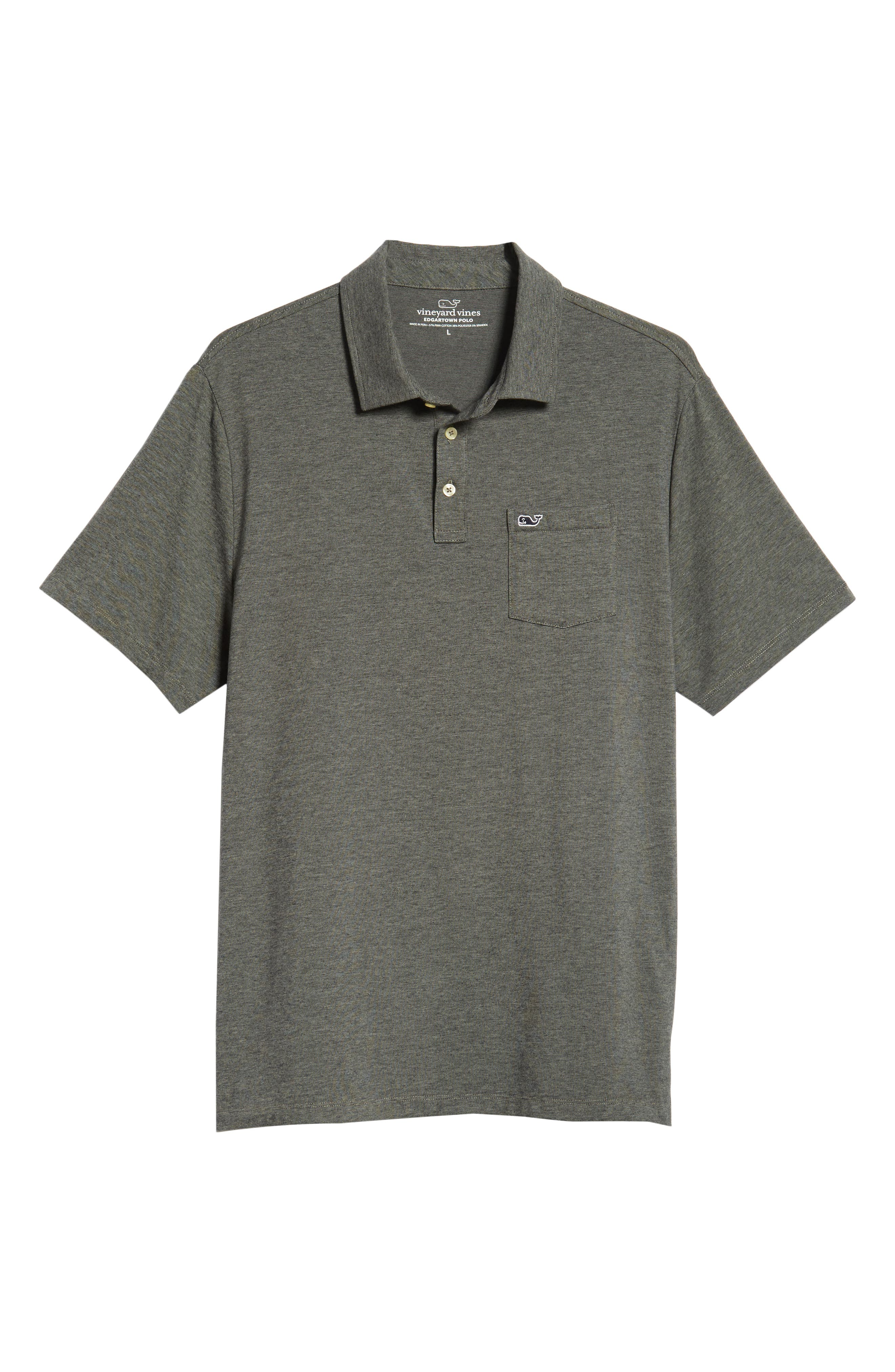 Edgartown Polo Shirt,                             Alternate thumbnail 6, color,                             CHARCOAL