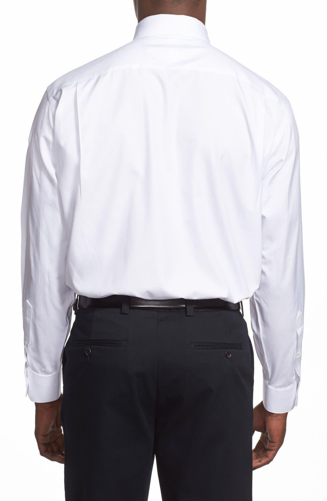 Smartcare<sup>™</sup> Classic Fit Pinpoint Dress Shirt,                             Alternate thumbnail 4, color,                             WHITE