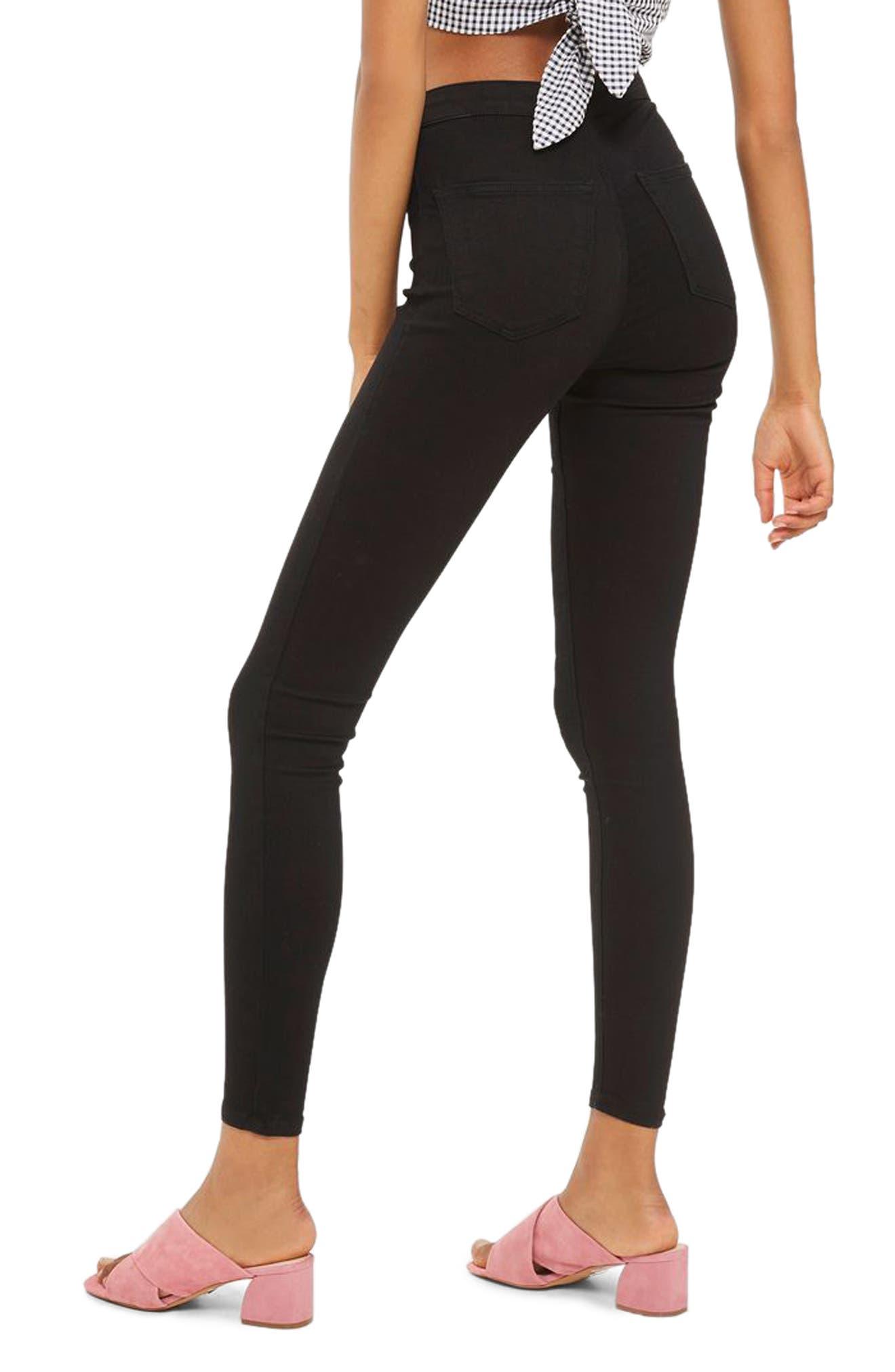 Joni High Rise Zip Front Super Skinny Jeans,                             Alternate thumbnail 2, color,                             001