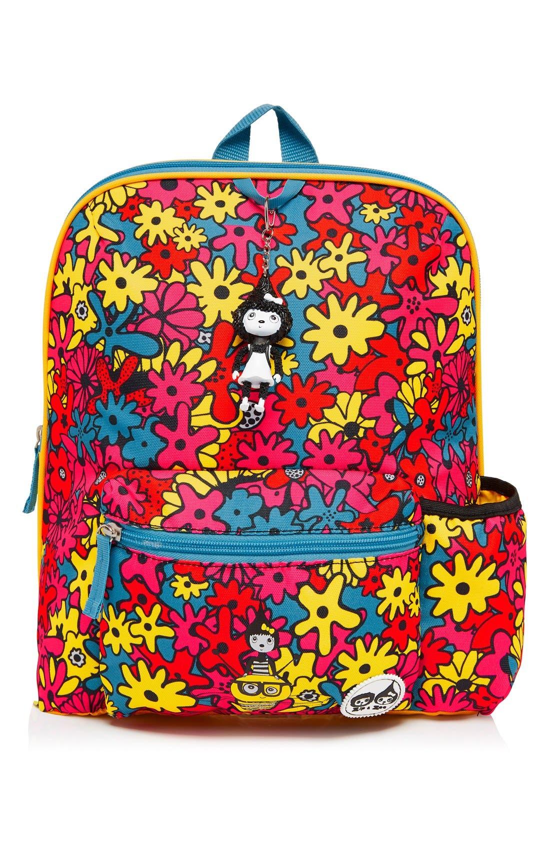 Print Backpack,                             Main thumbnail 1, color,                             FLORAL BRIGHTS