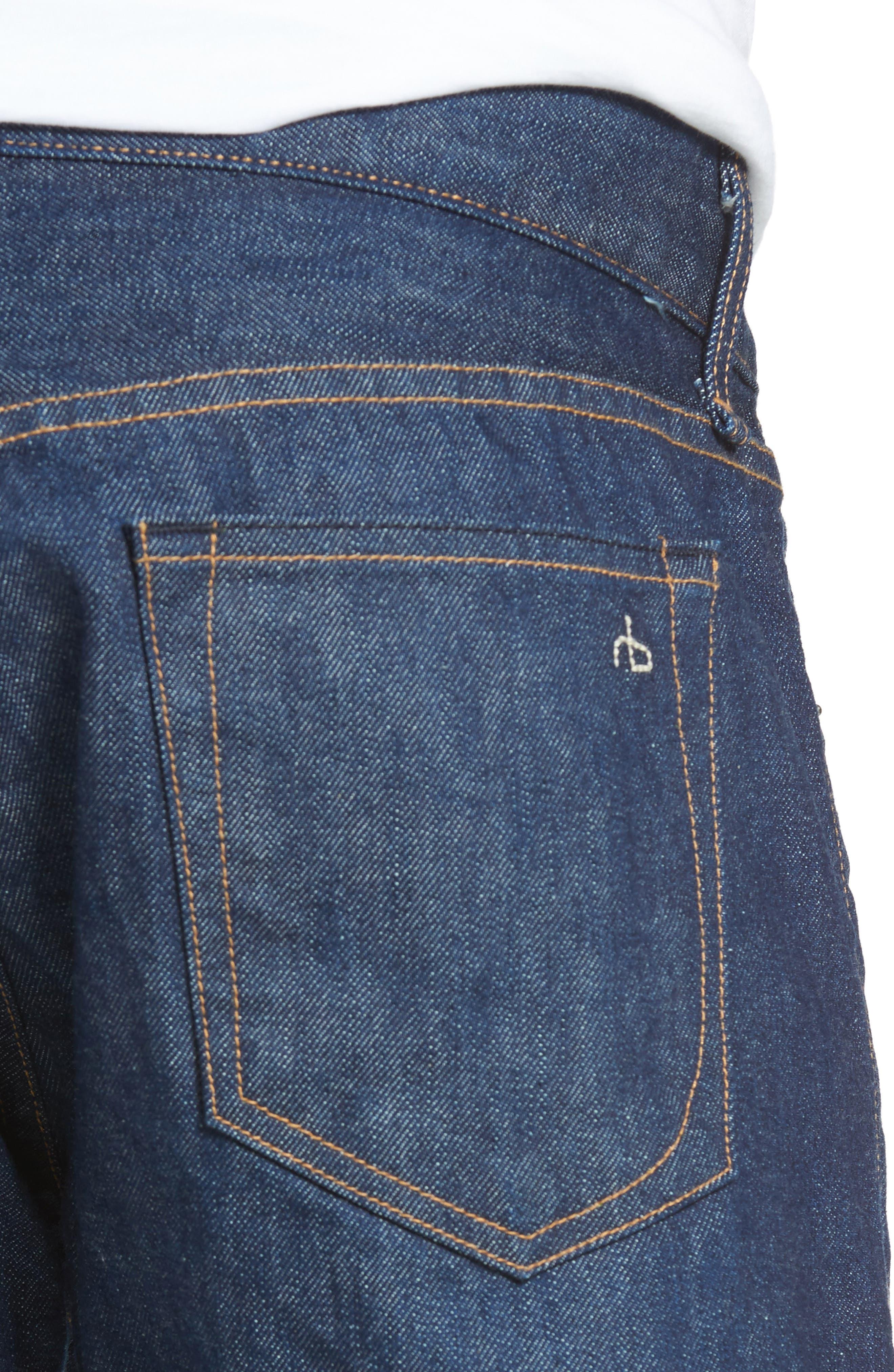 Fit 2 Slim Fit Selvedge Jeans,                             Alternate thumbnail 4, color,                             427
