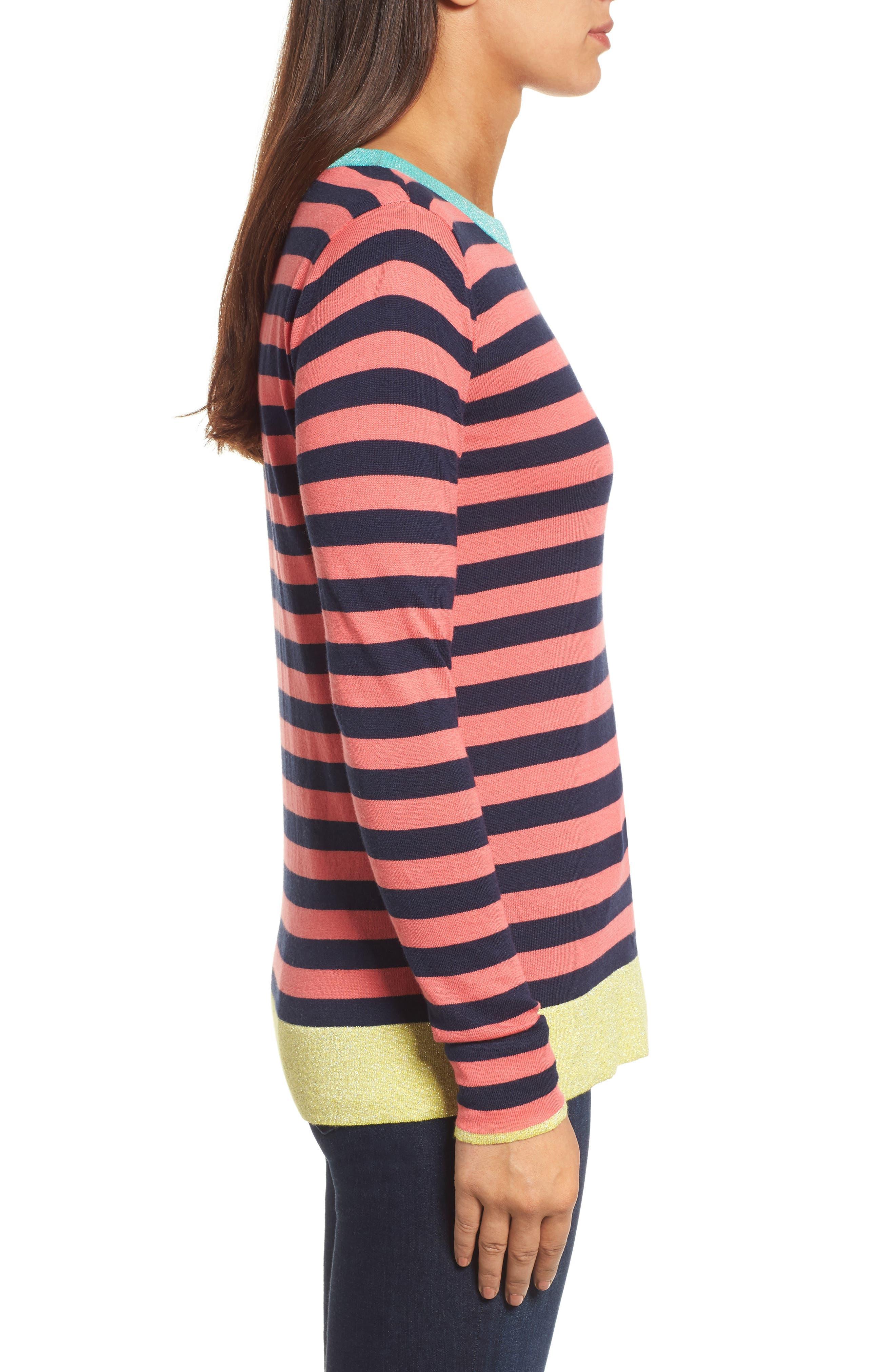 Colorblock Stripe Sweater,                             Alternate thumbnail 12, color,