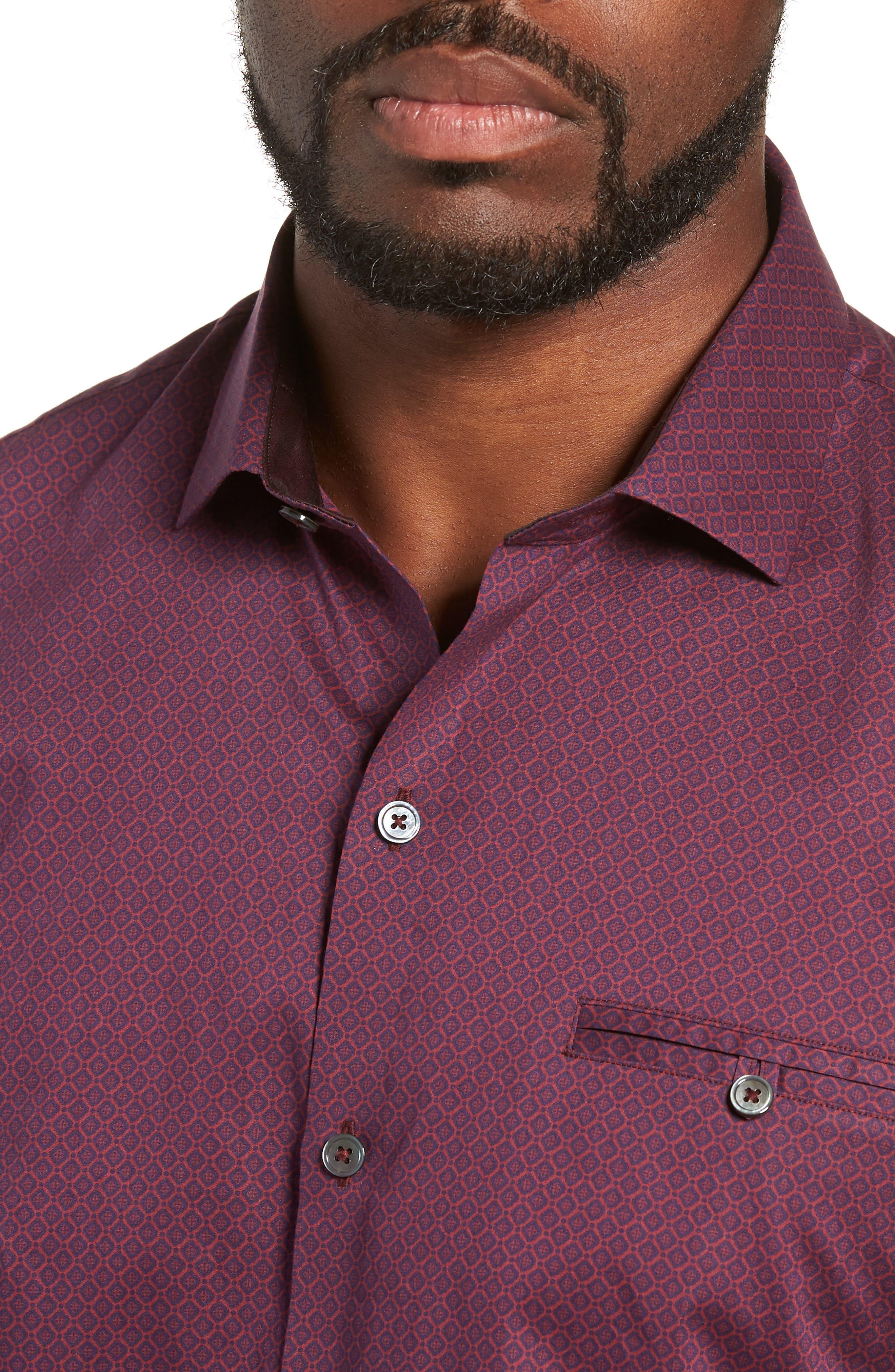 Shamus Regular Fit Sport Shirt,                             Alternate thumbnail 2, color,                             MAROON