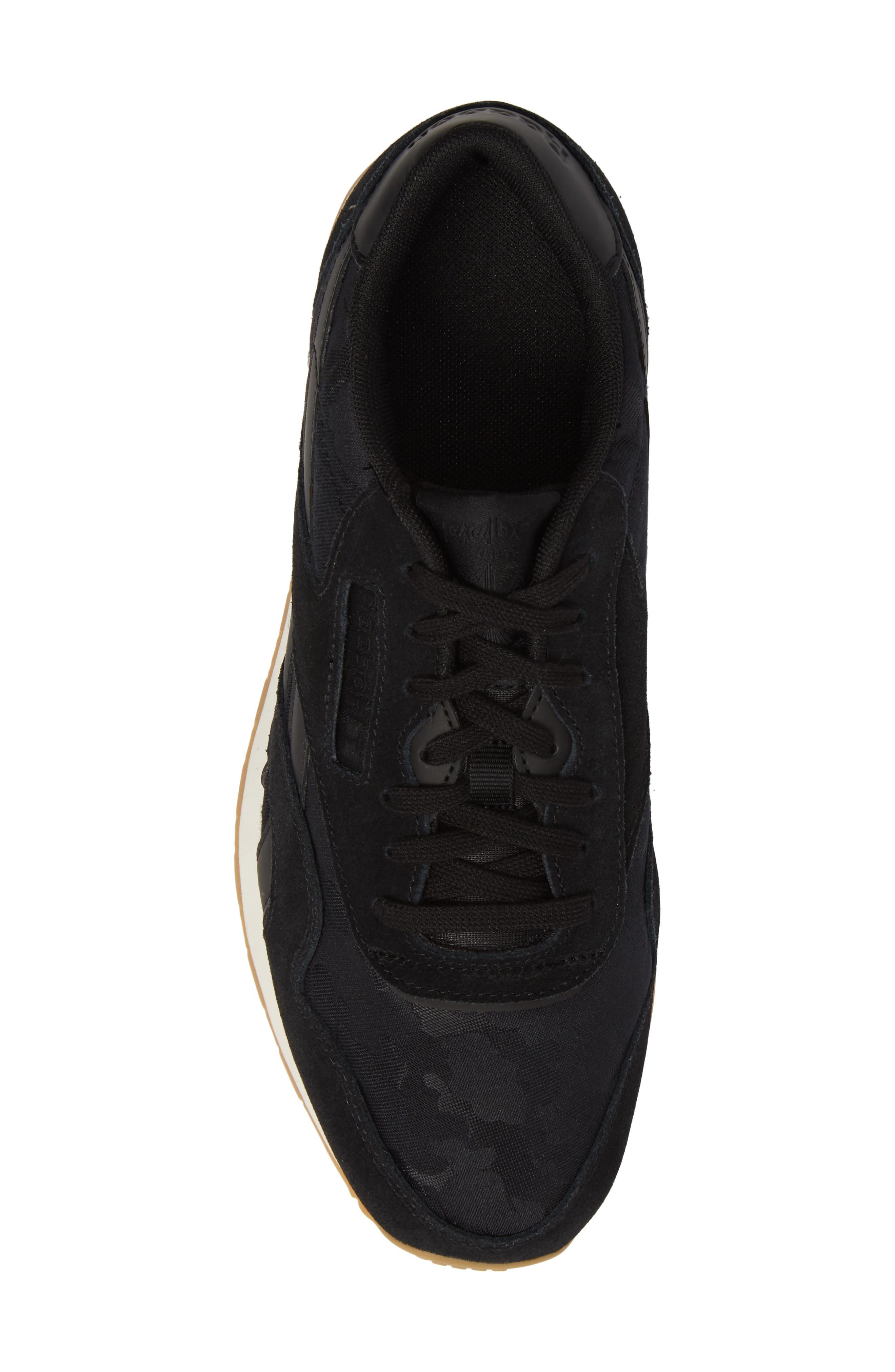 Classic Leather Nylon SG Sneaker,                             Alternate thumbnail 5, color,                             001