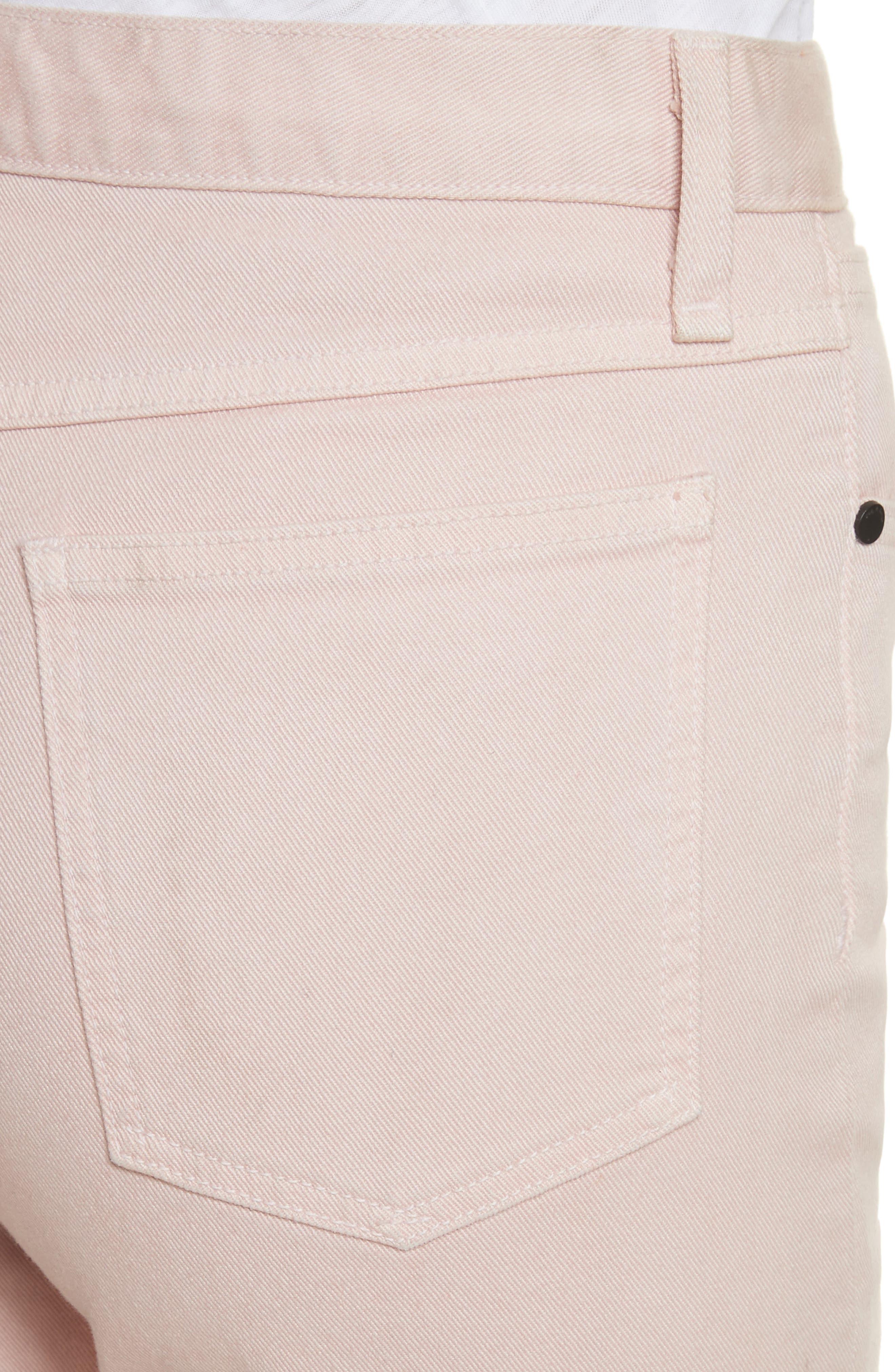 Justine High Waist Trouser Jeans,                             Alternate thumbnail 4, color,