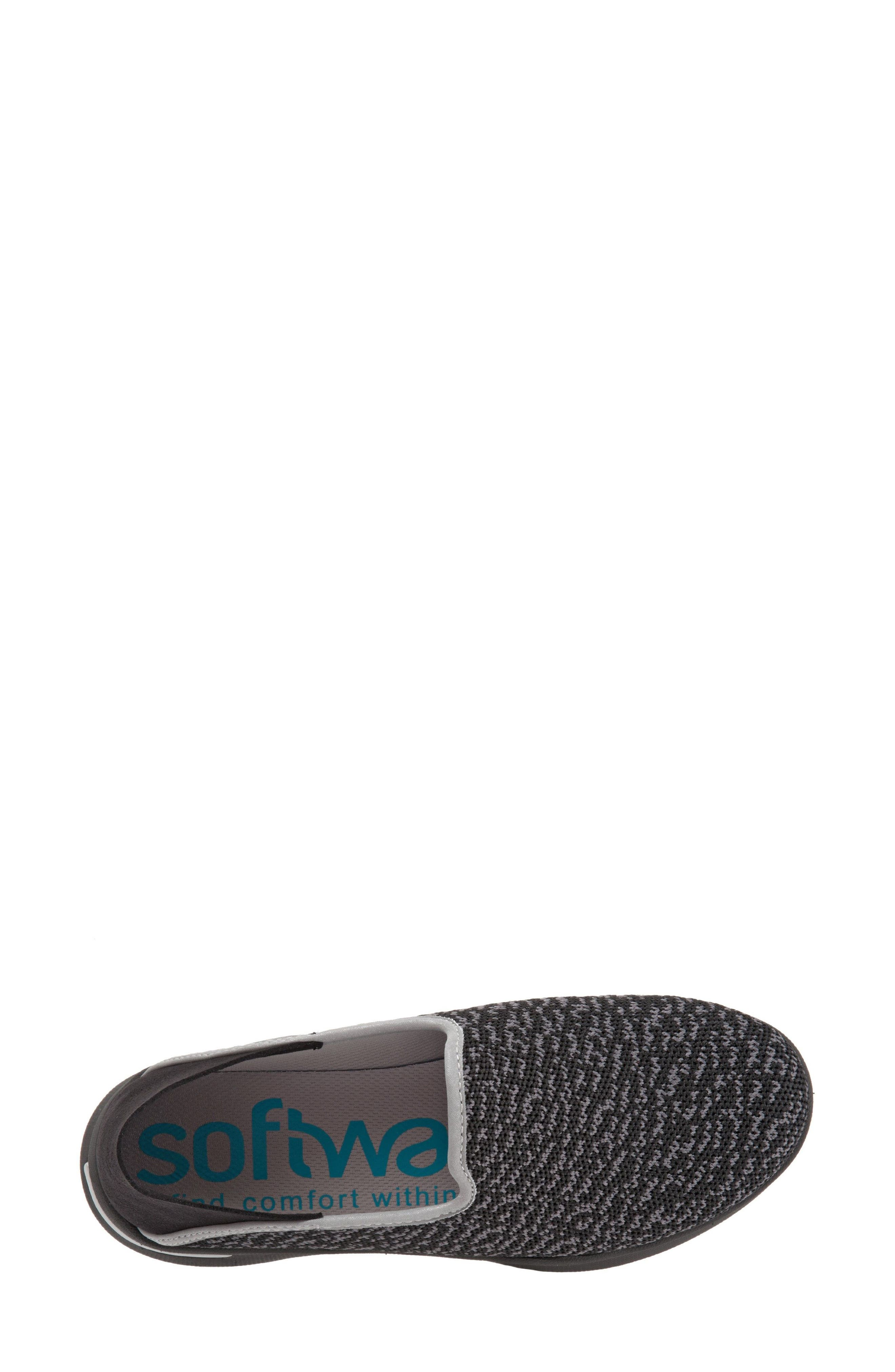 Simba Convertible Slip-On,                             Alternate thumbnail 6, color,                             BLACK FABRIC