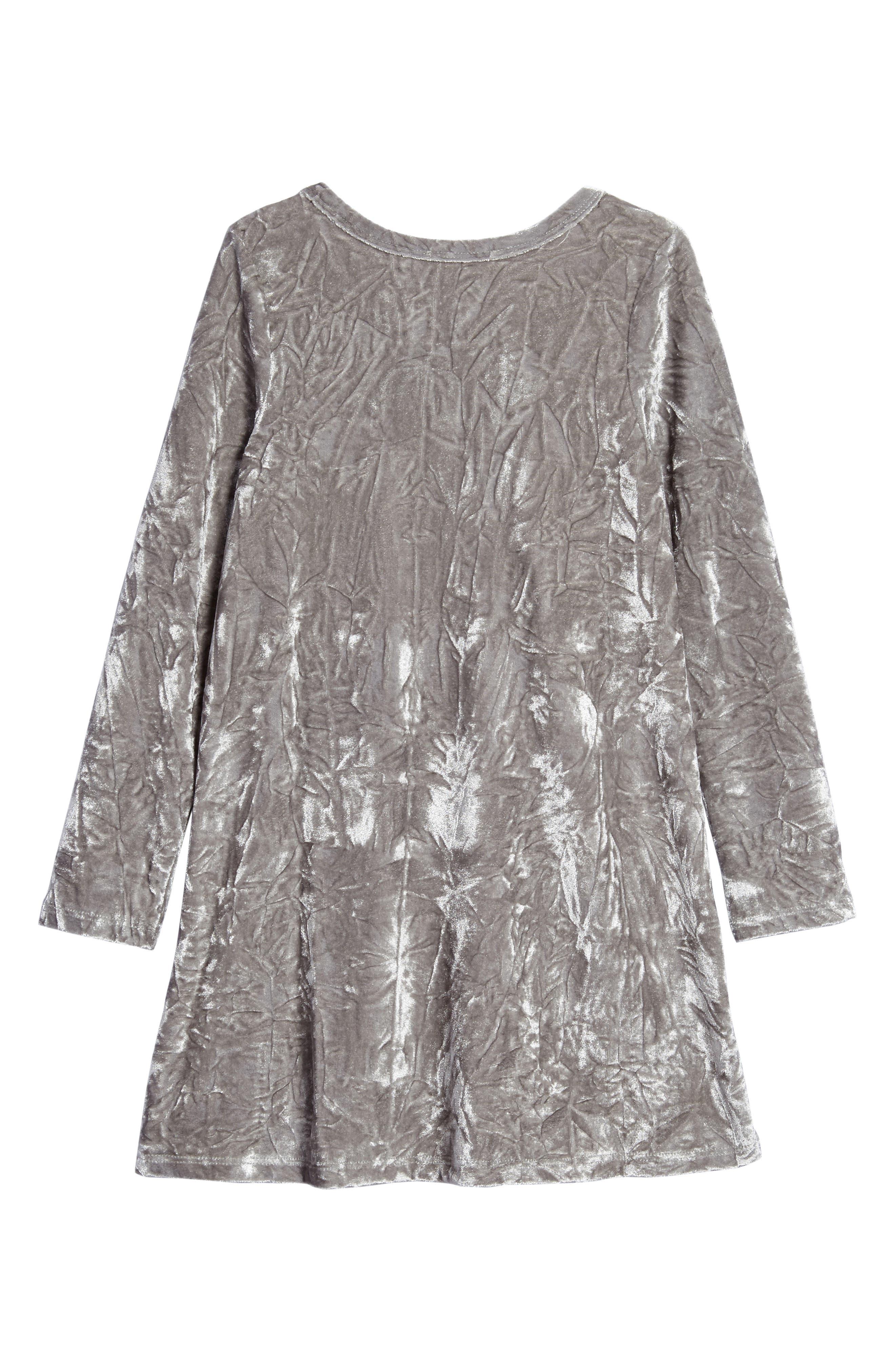 Ruffle Velvet Dress,                             Alternate thumbnail 2, color,                             049