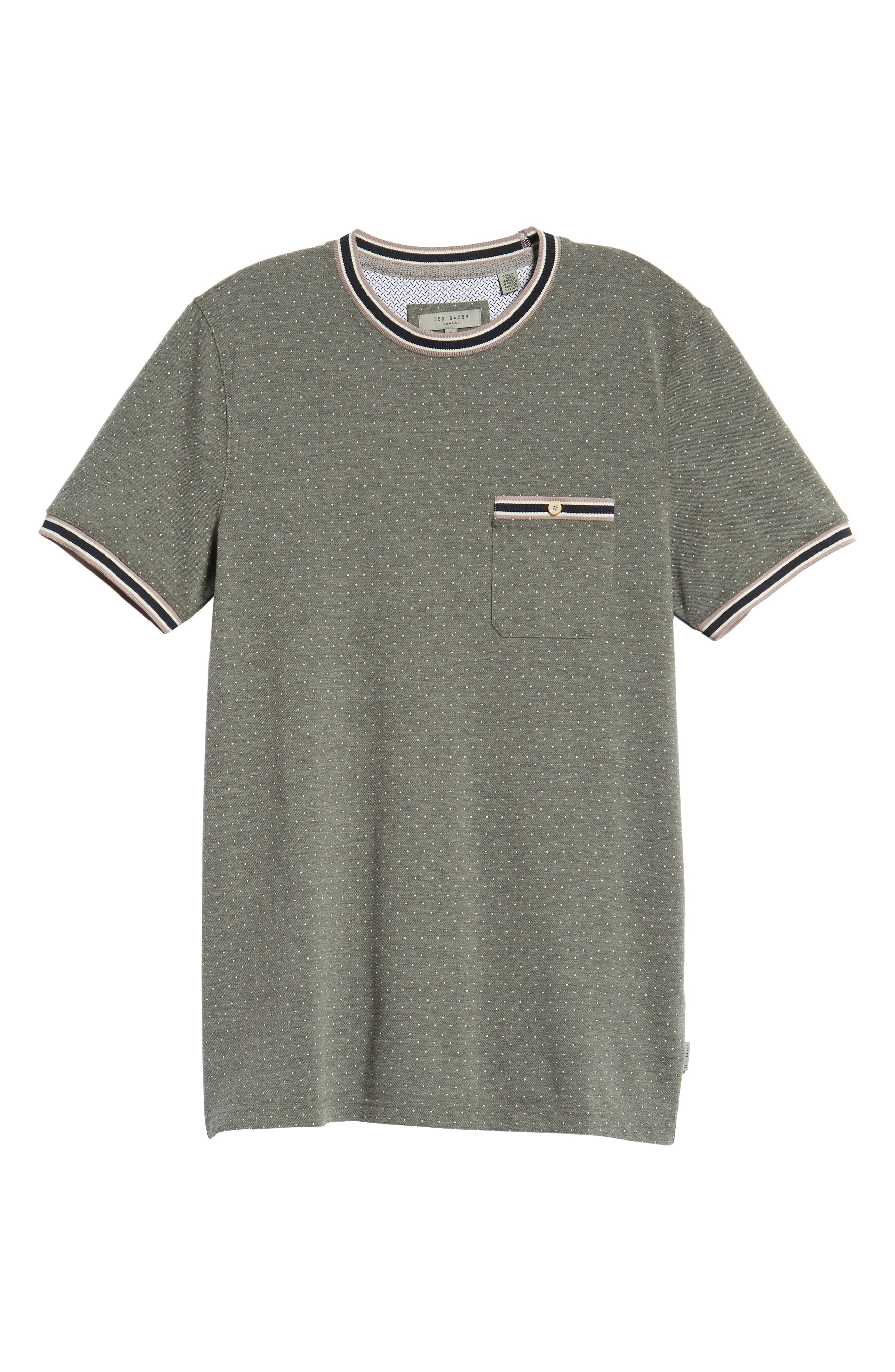 Glaad Trim Fit Mini Spot T-Shirt,                             Alternate thumbnail 6, color,                             GREY MARL