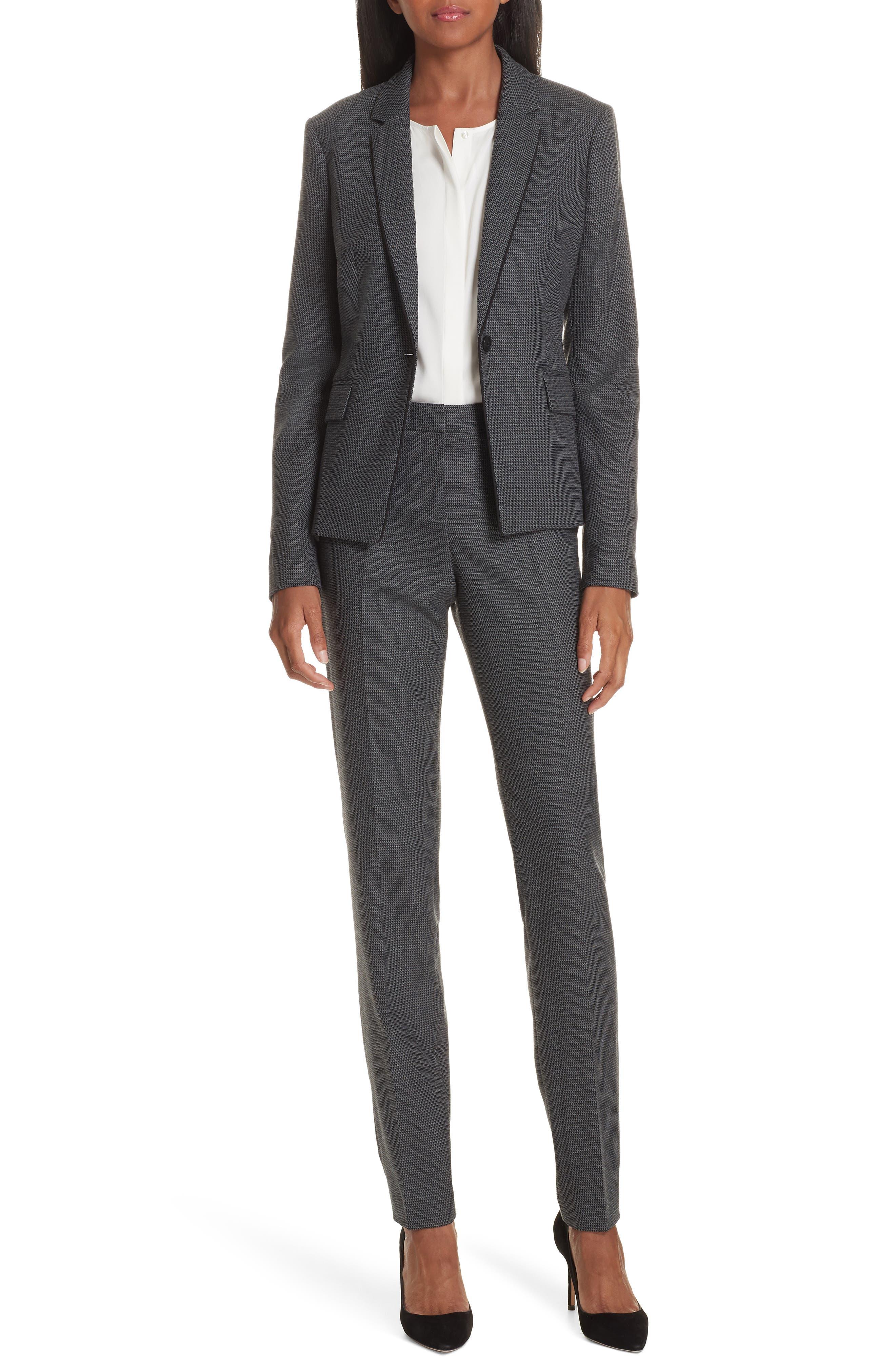 Tilunana Pinstripe Suit Trousers,                             Alternate thumbnail 8, color,                             020