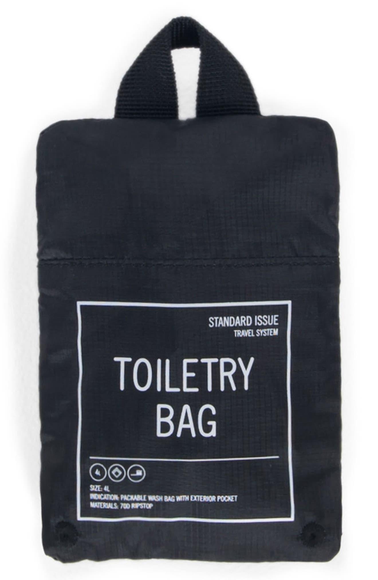 Toiletry Bag,                             Alternate thumbnail 3, color,                             BLACK