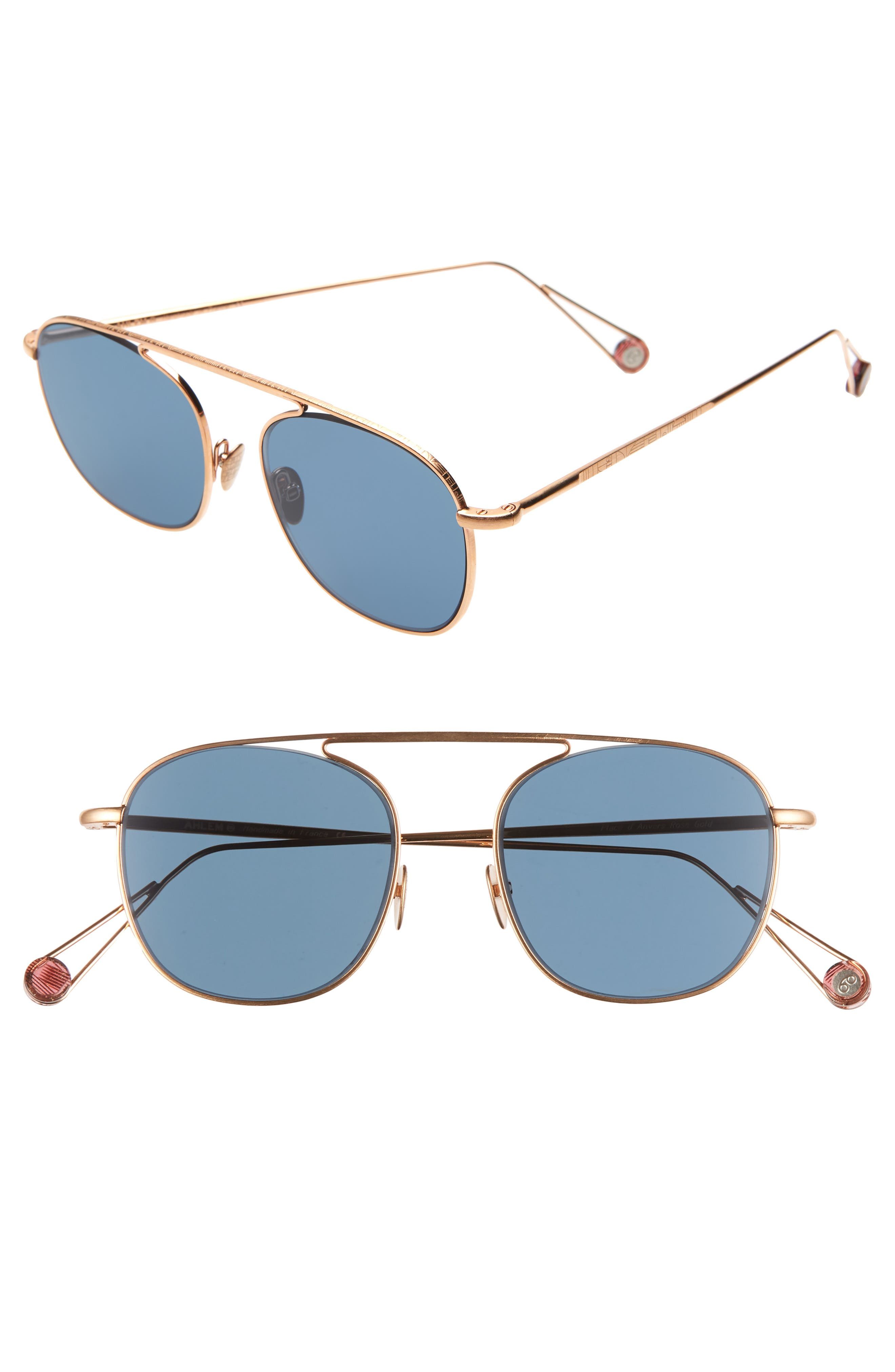 AHLEM D'Anvers 49Mm Aviator Sunglasses in Rose Gold
