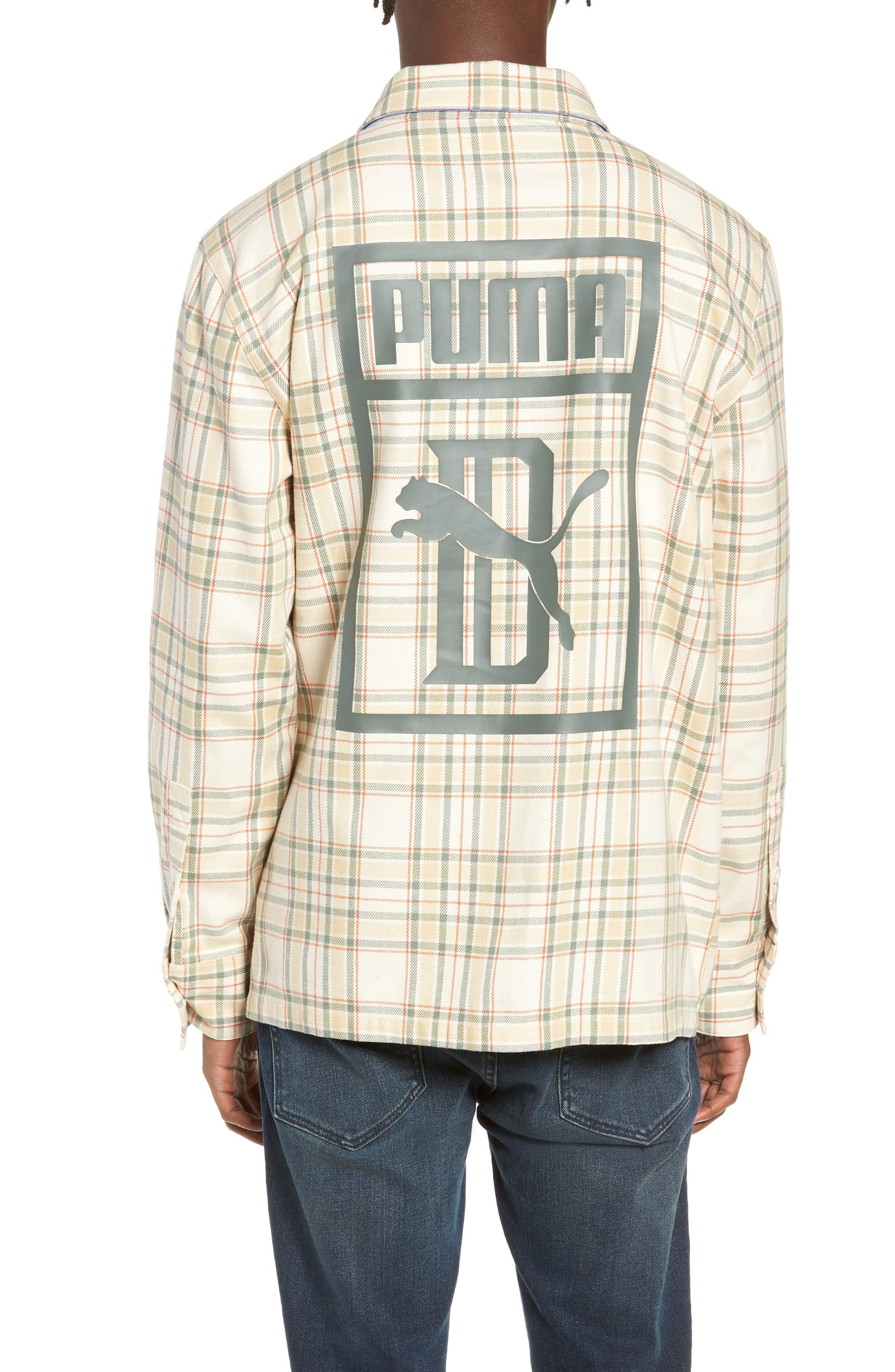 PUMA,                             x Big Sean Check Shirt,                             Alternate thumbnail 2, color,                             100